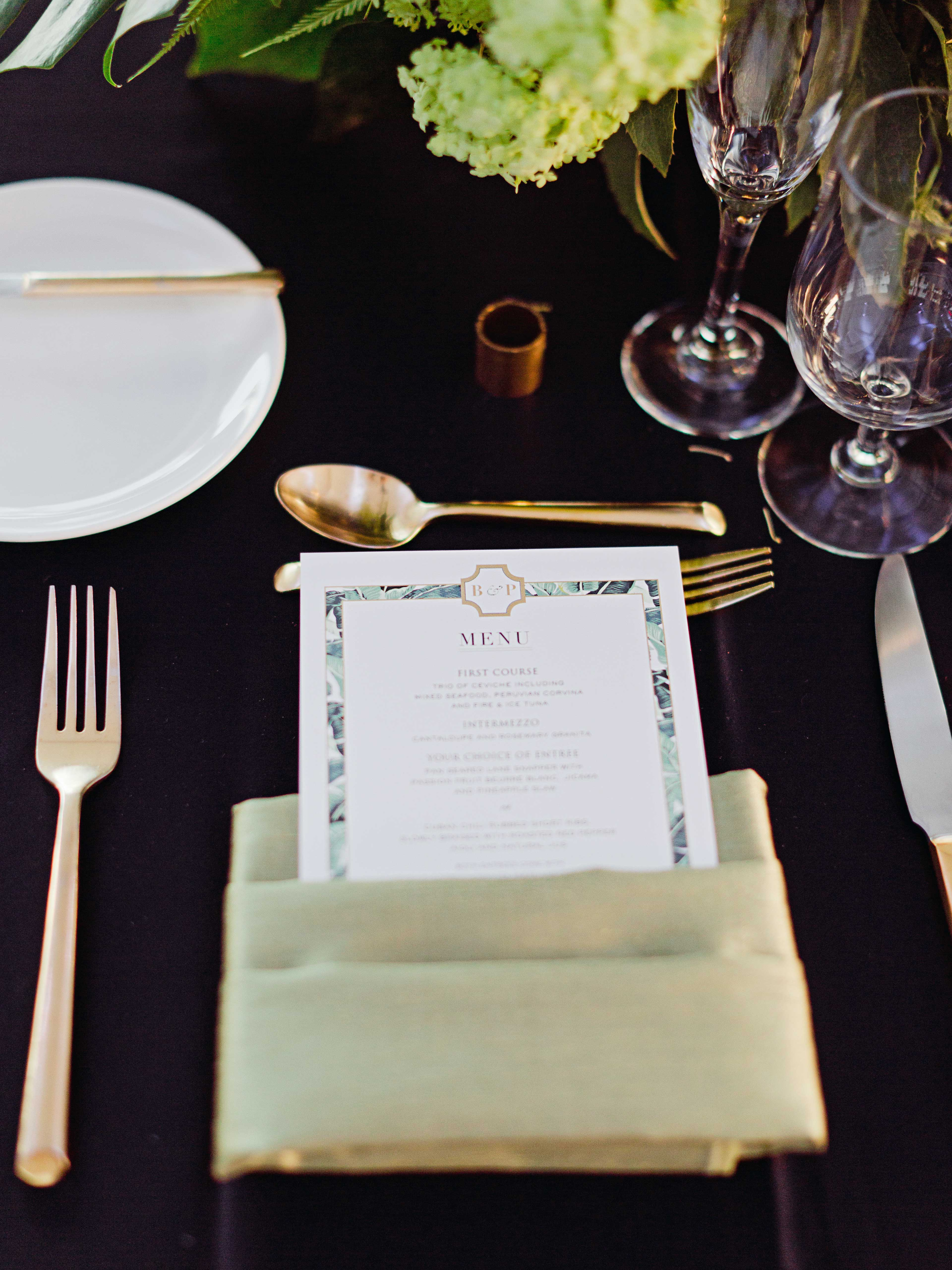 brette patrick wedding place setting