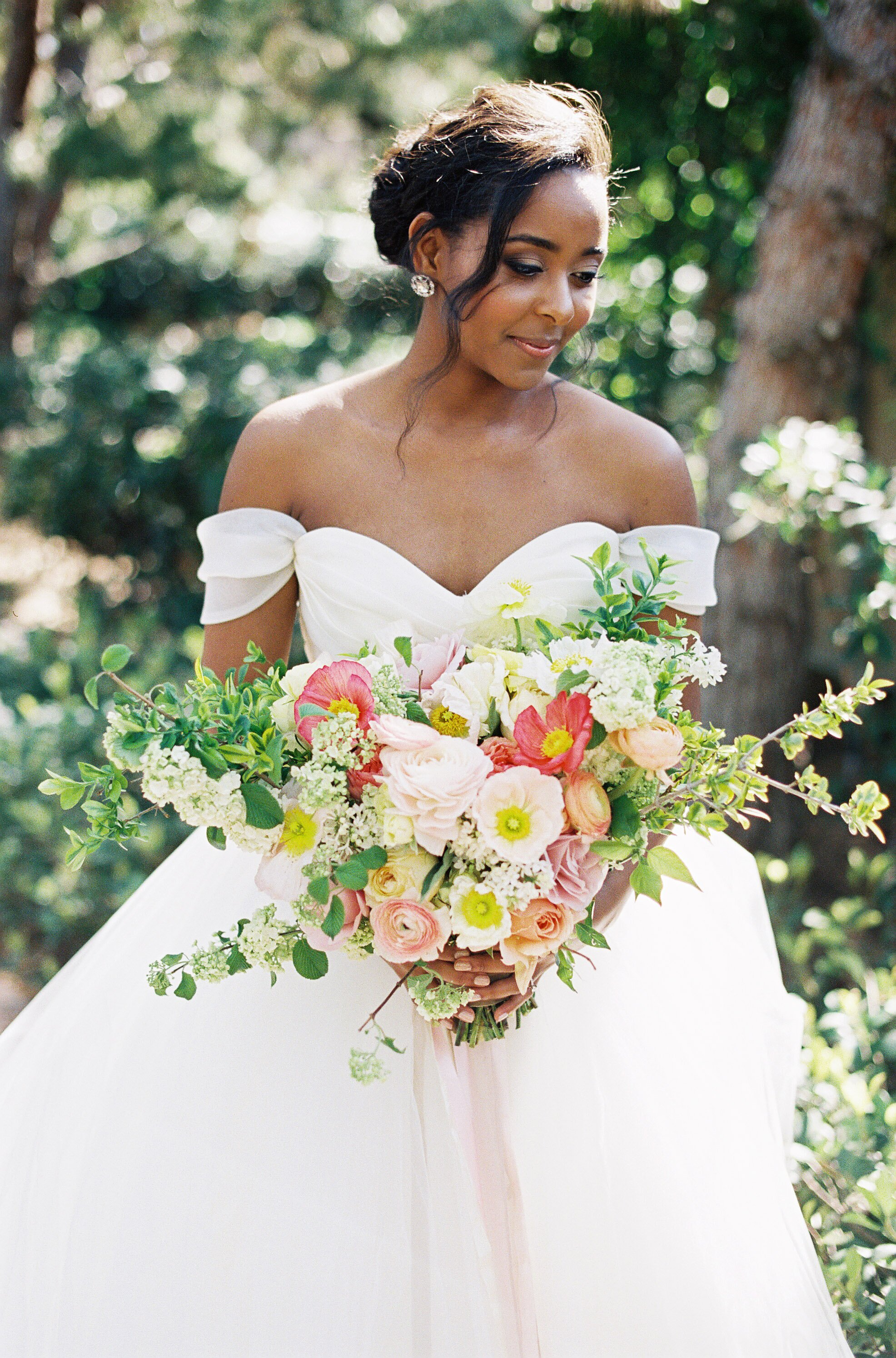 41 Brides Wearing Off The Shoulder Wedding Dresses Martha