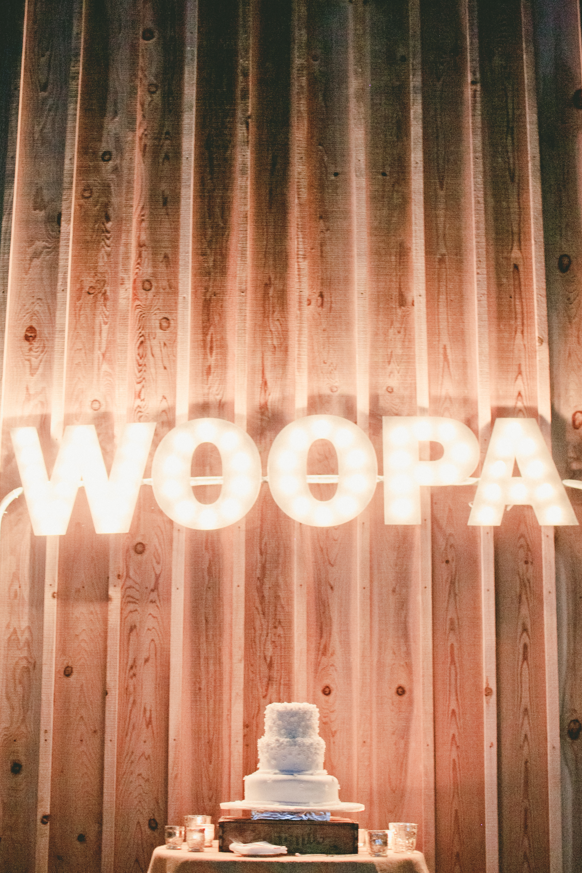 """""""woopa"""" marquee signage"""