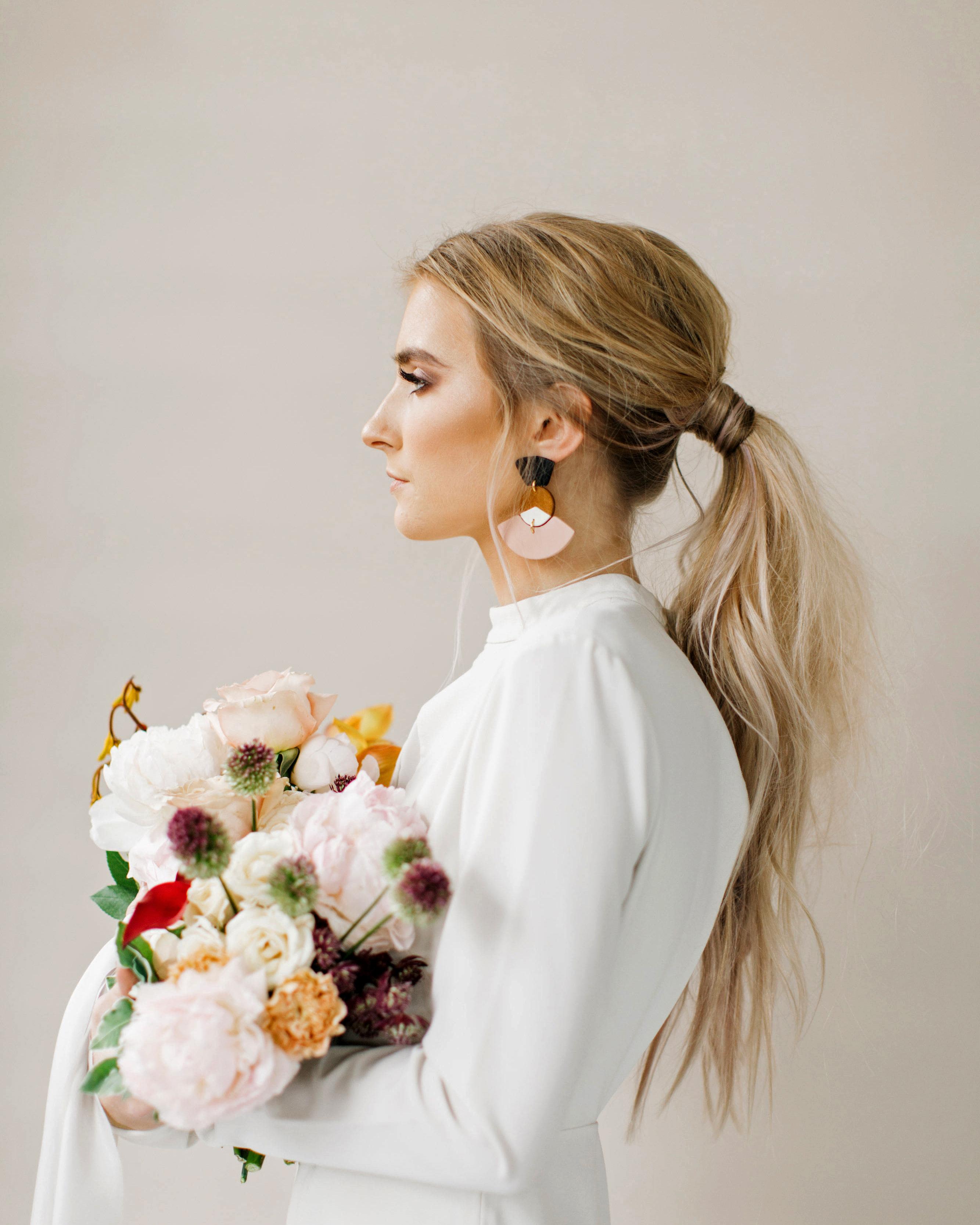 bridal ponytail wispy