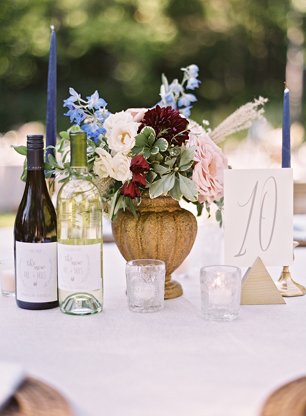 ashley and justin reception table centerpiece