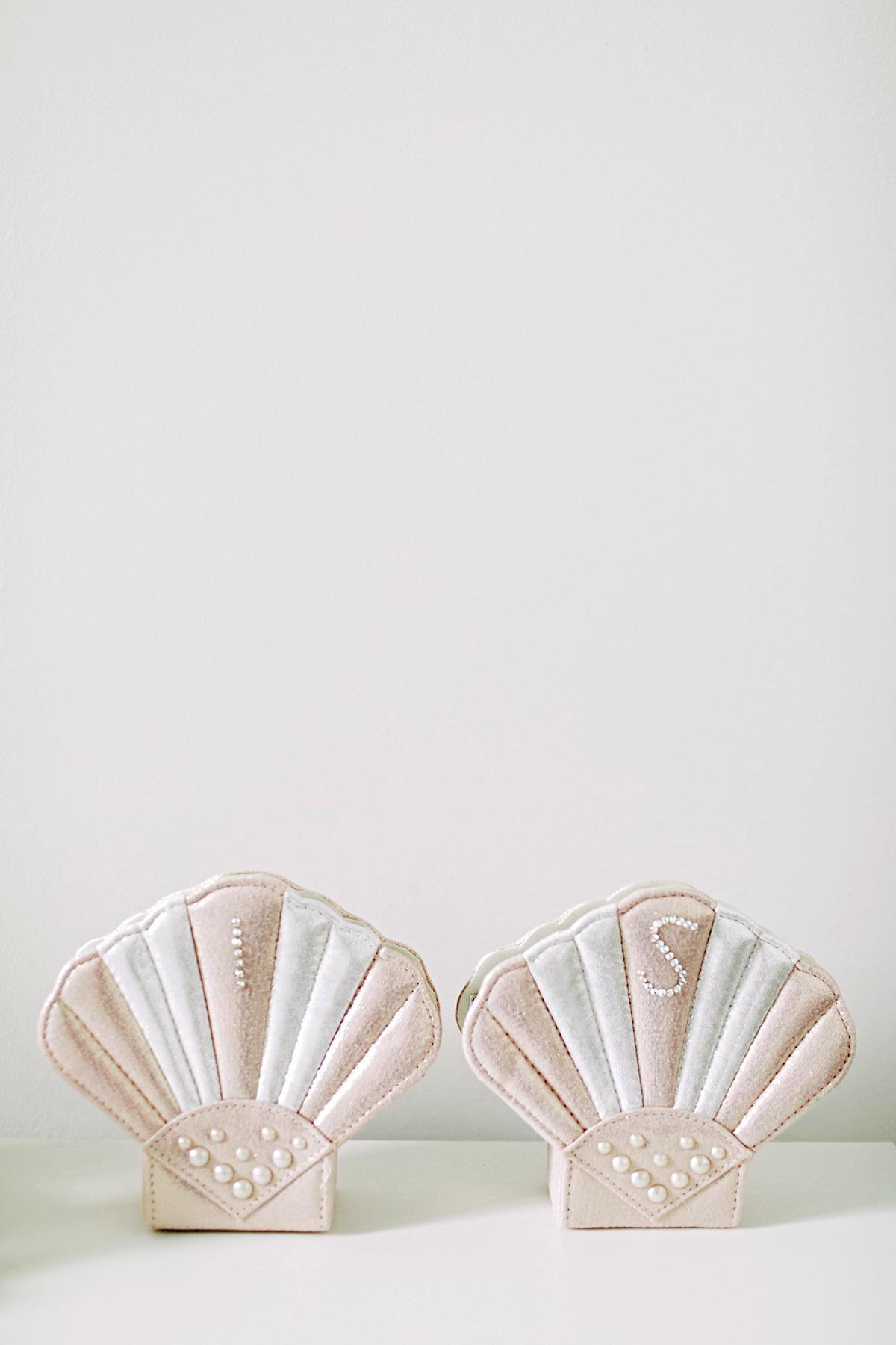 ana and damon embellished blush boxes