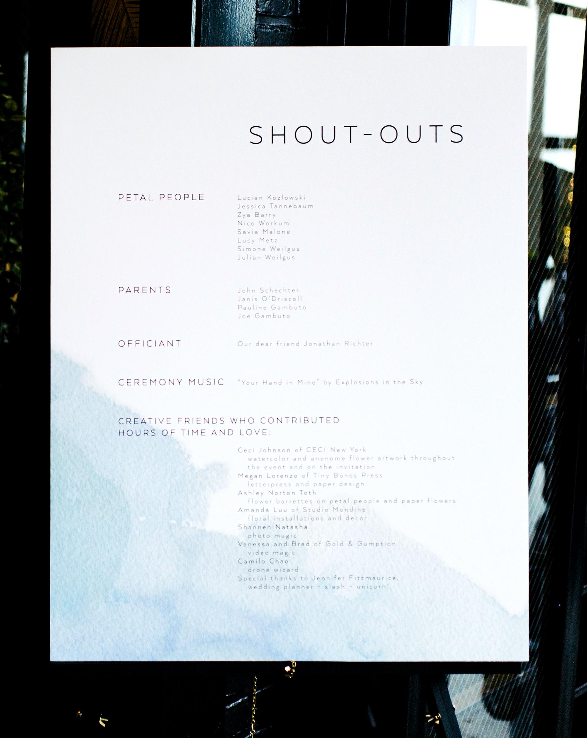 ana and damon shoutouts program poster