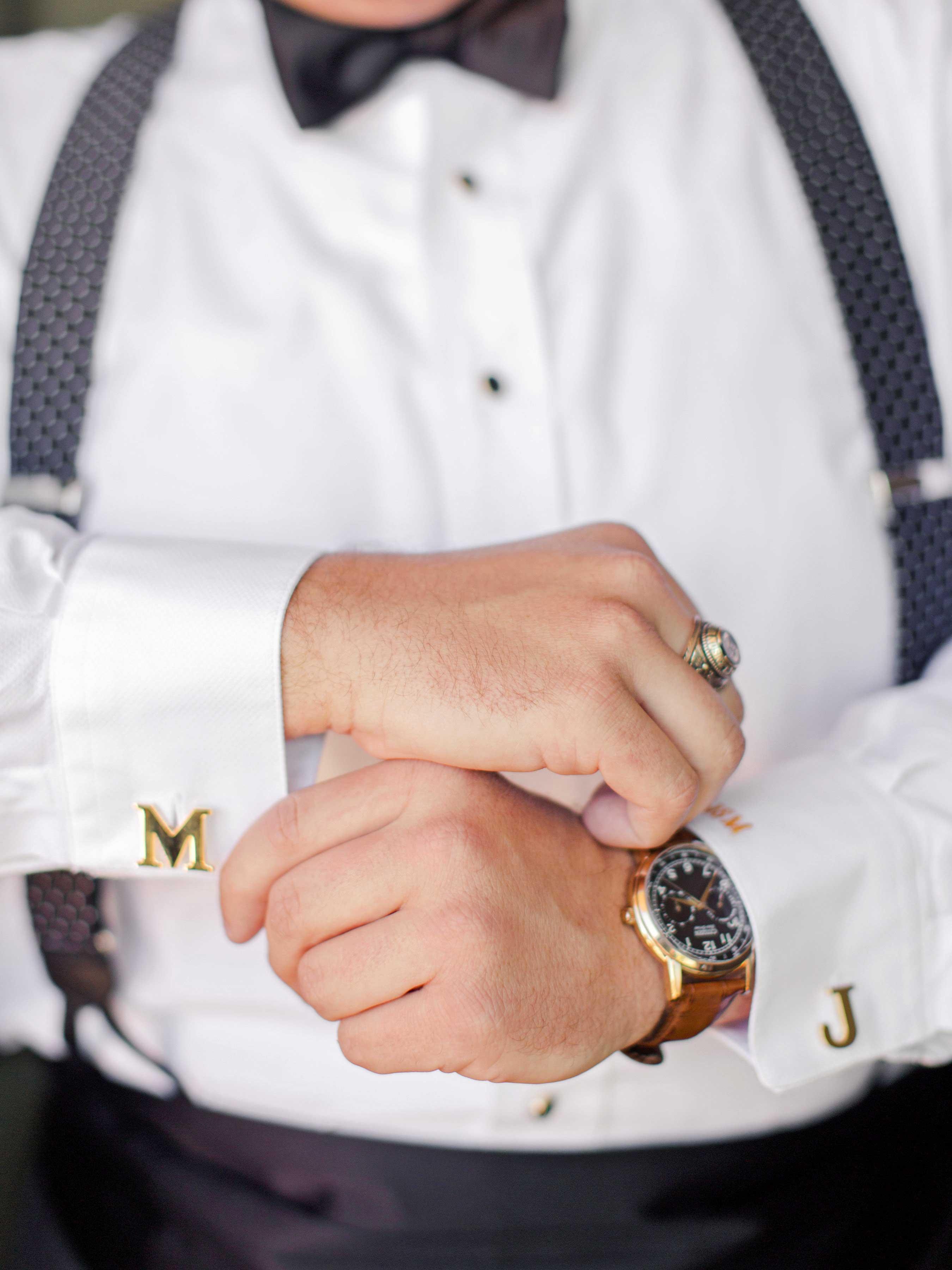 carey jared wedding cufflinks