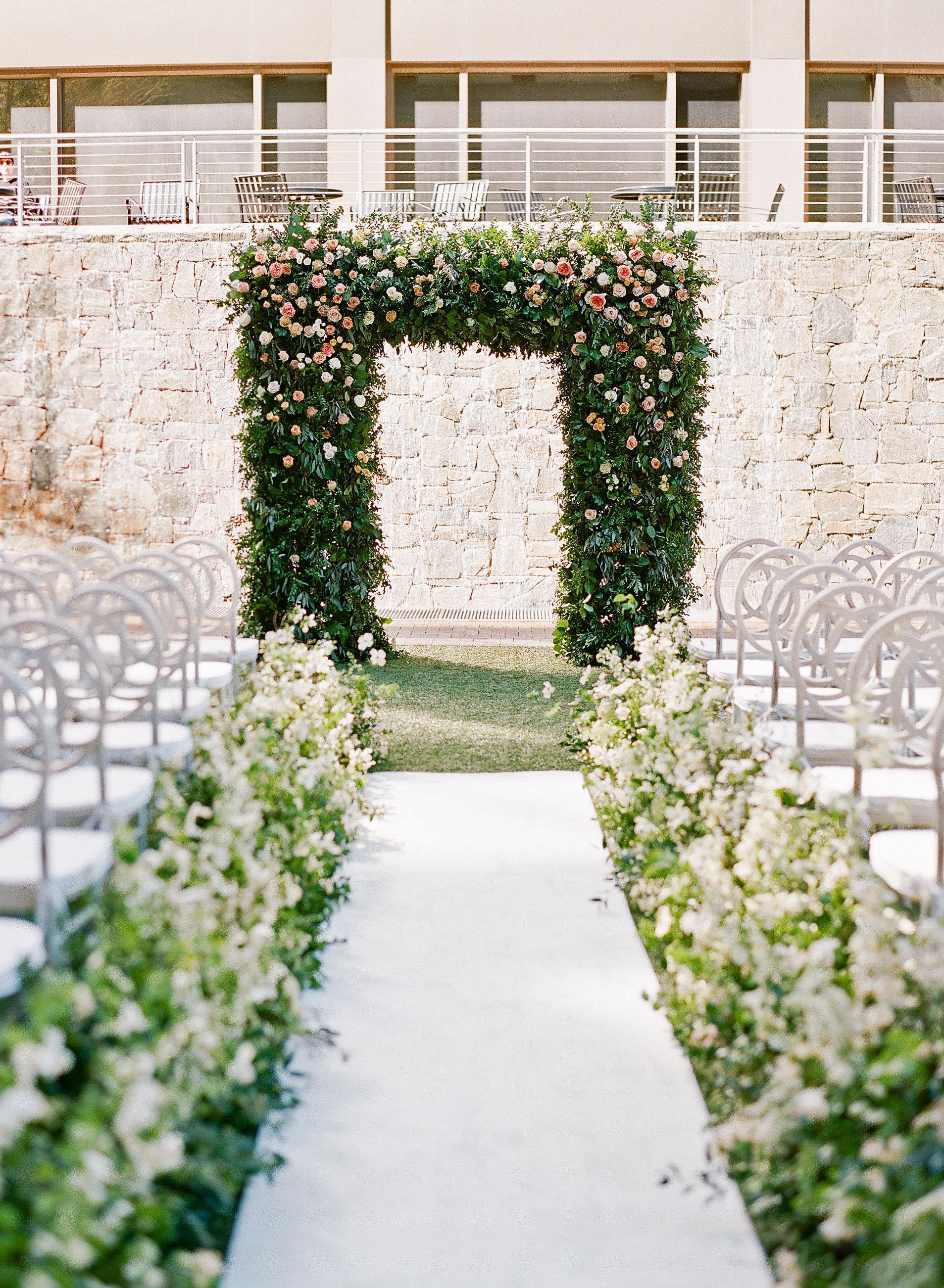 carey jared wedding ceremony altar