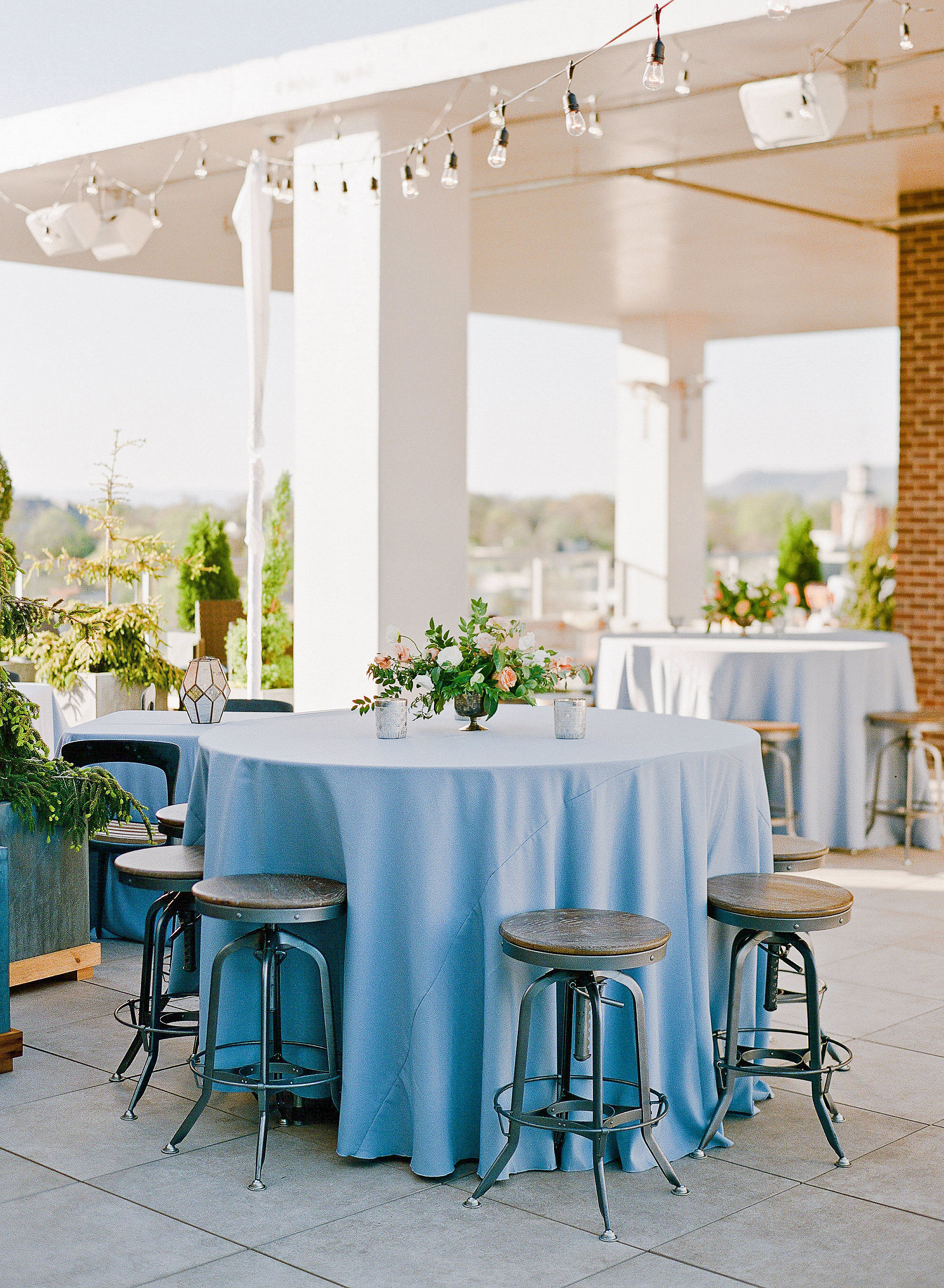 carey jared wedding tables outside