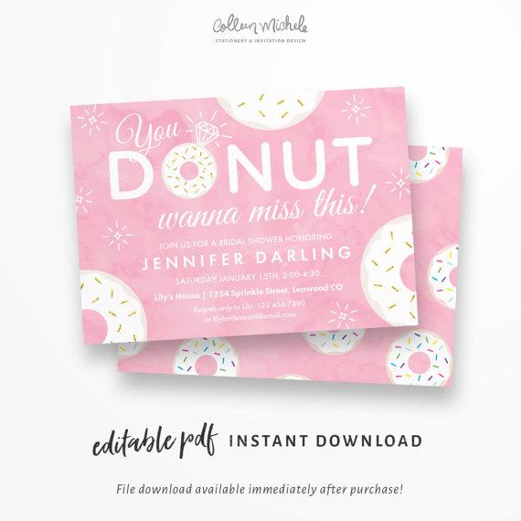 donut invitations