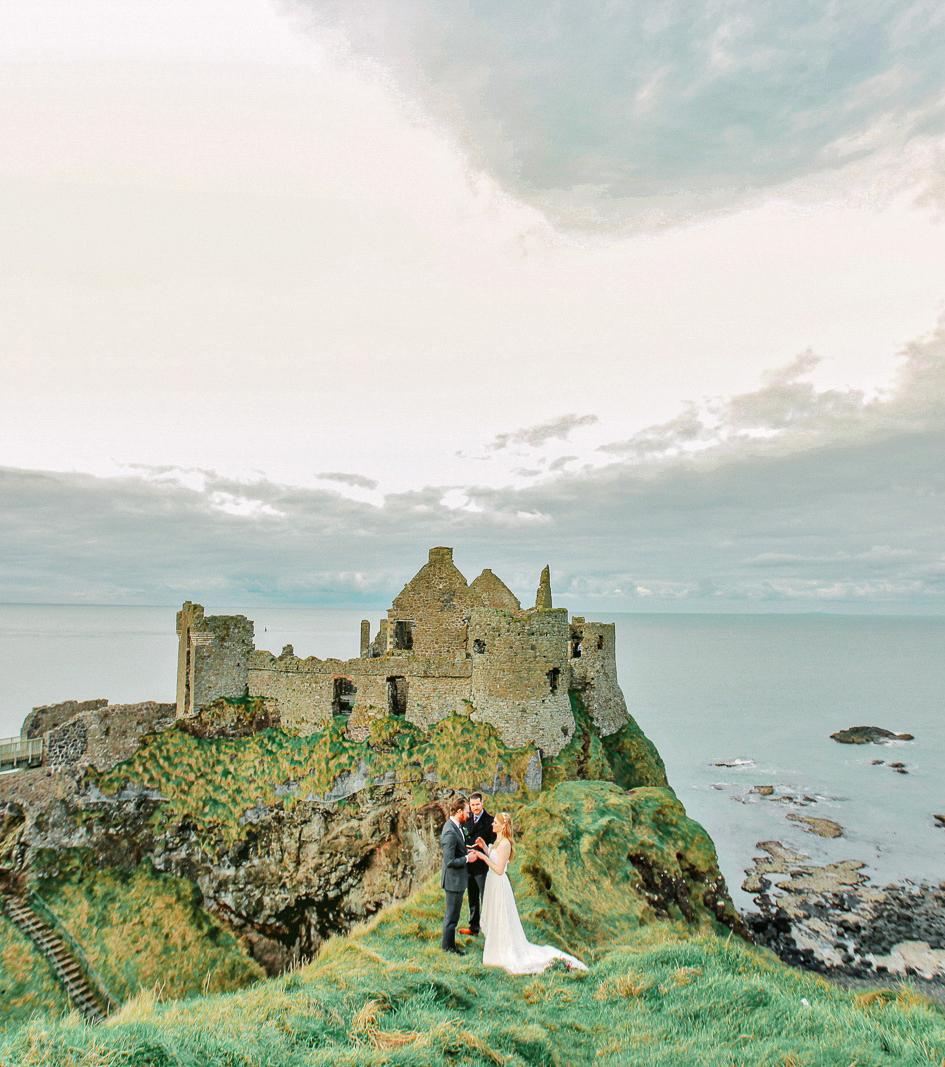 epic elopement locations dunluce castle