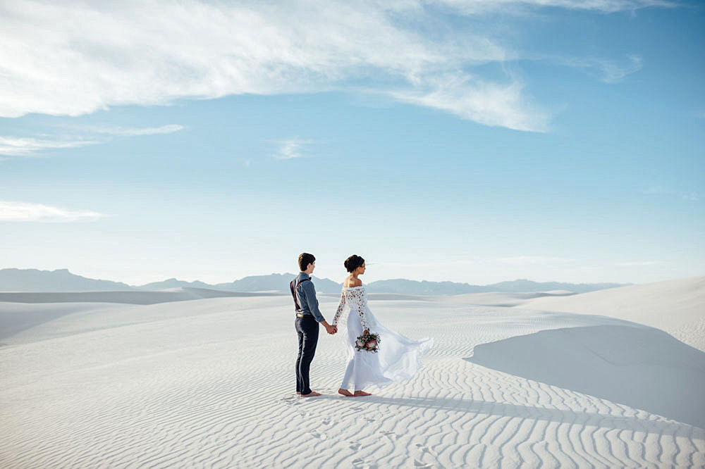 epic elopement locations white sands new mexico