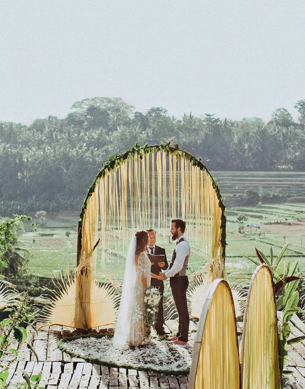 epic elopement locations bali rice fields