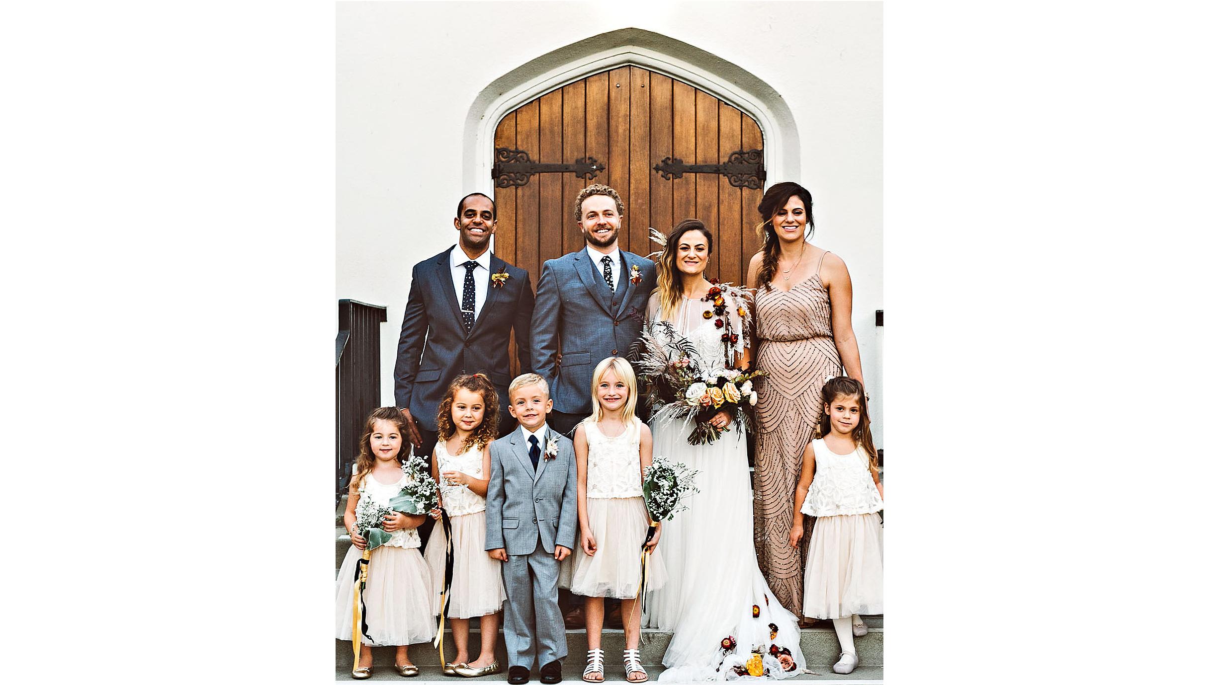 lori john wedding california bridal party