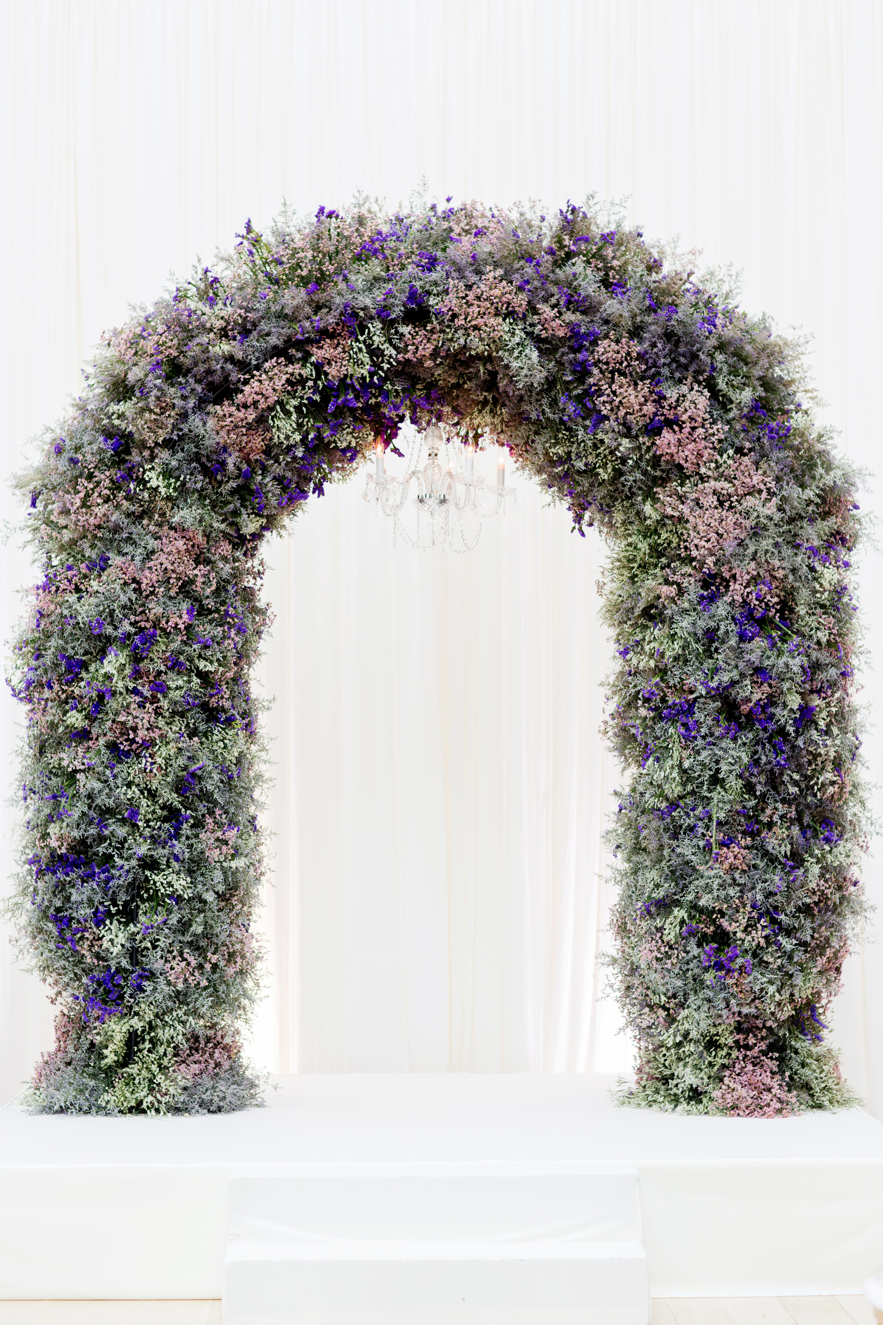 lavender floral arch