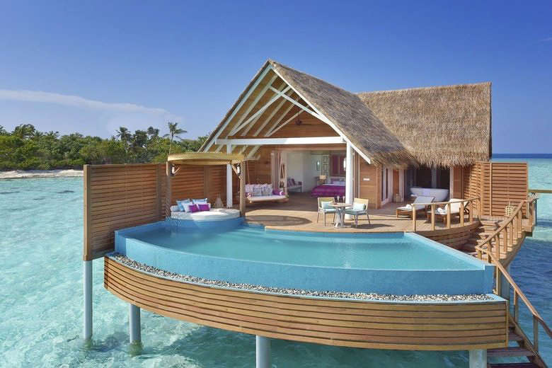 maldives island resort pool