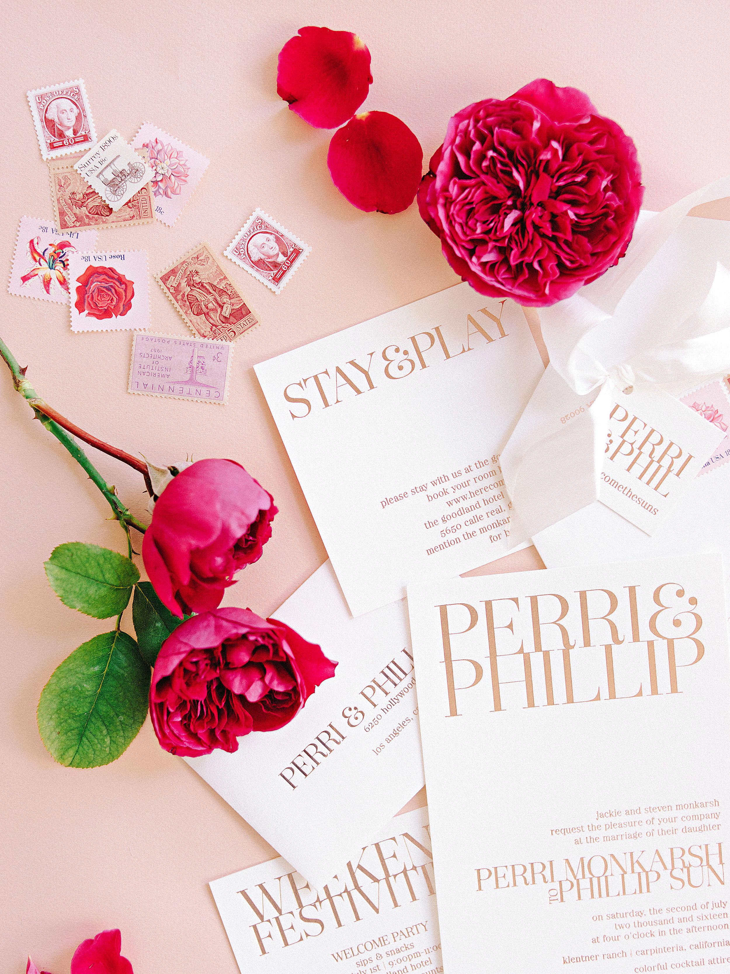 perri phillip wedding california invitations