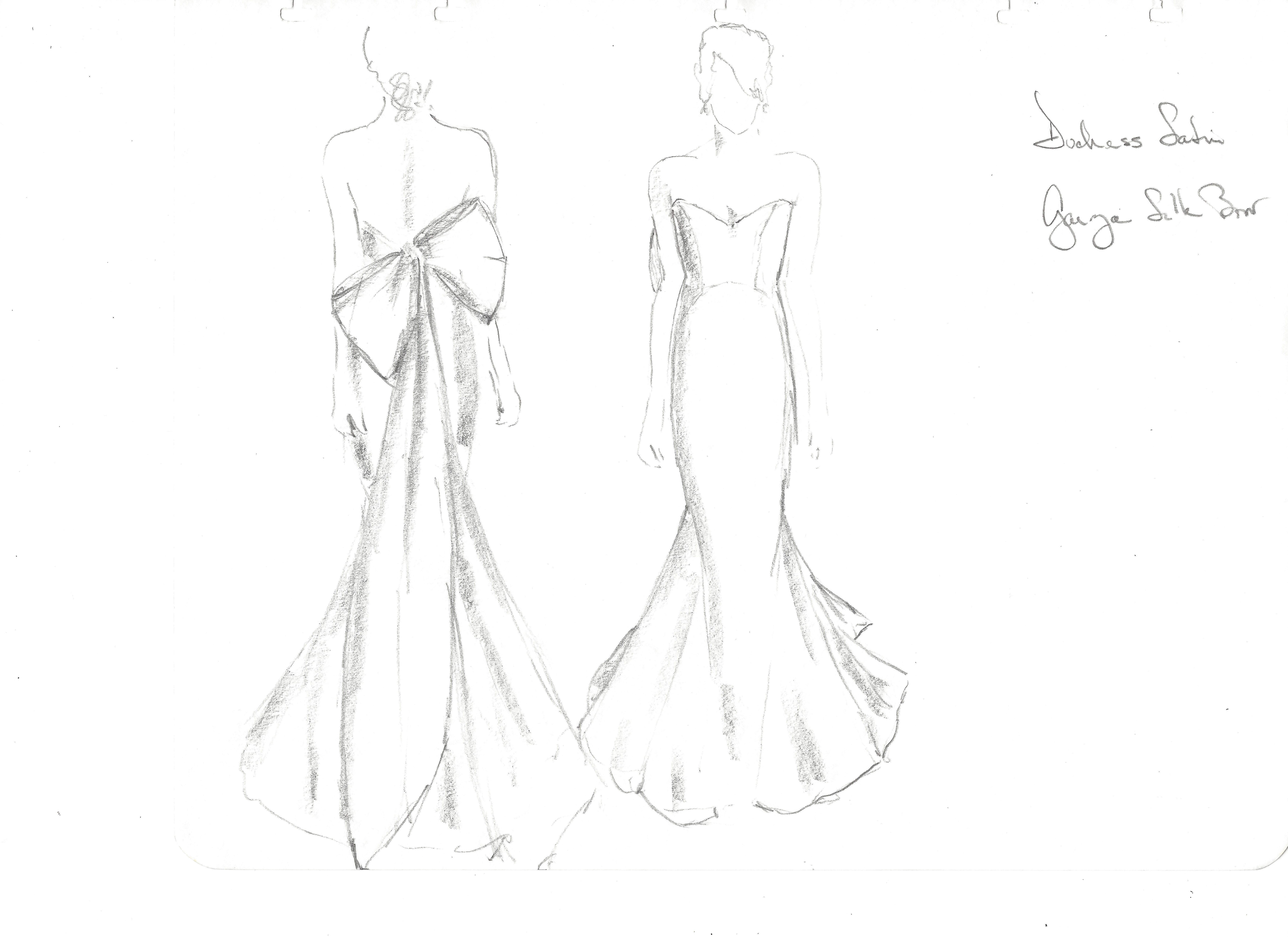 anna maier wedding dress sketch