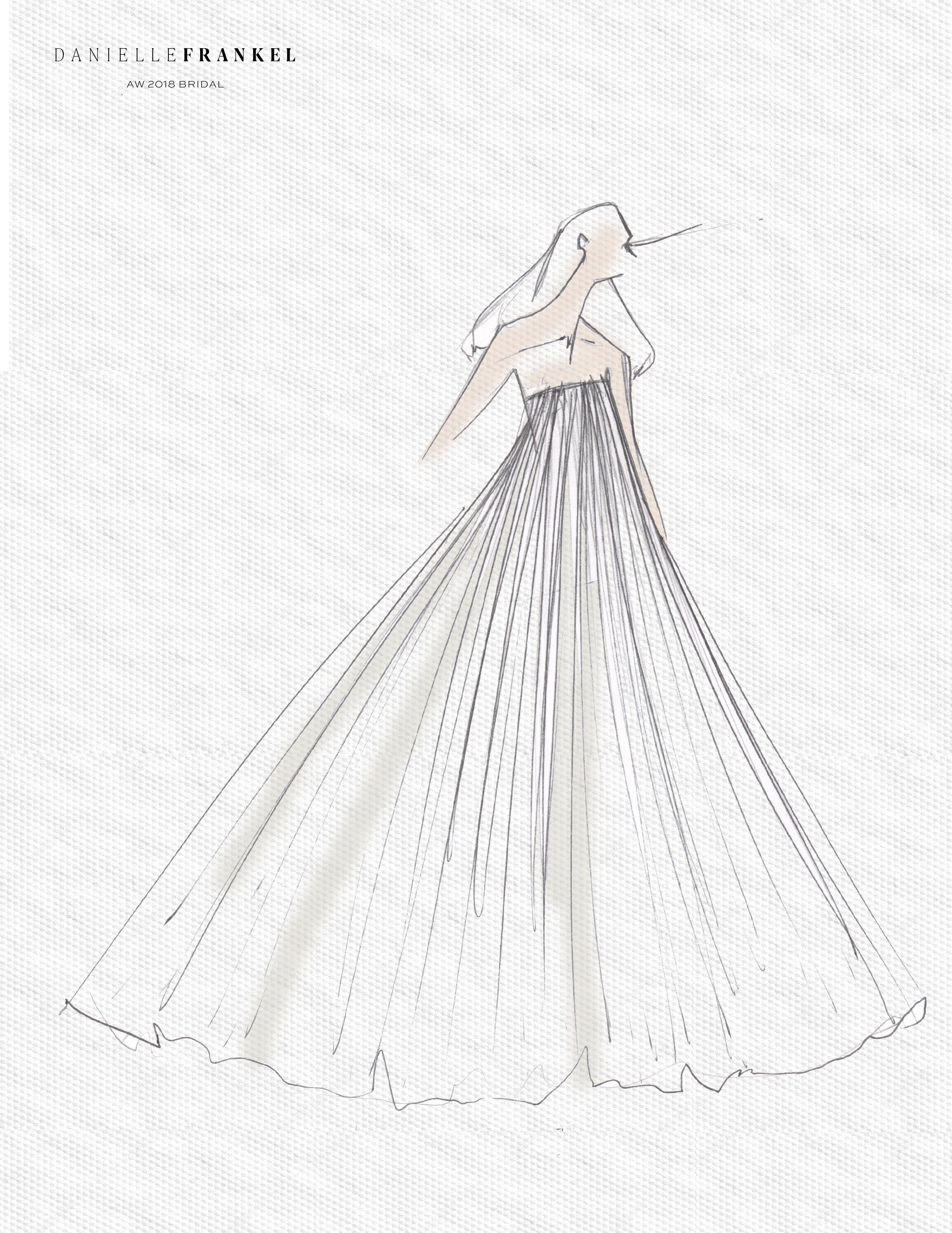 danielle frankel wedding dress sketch