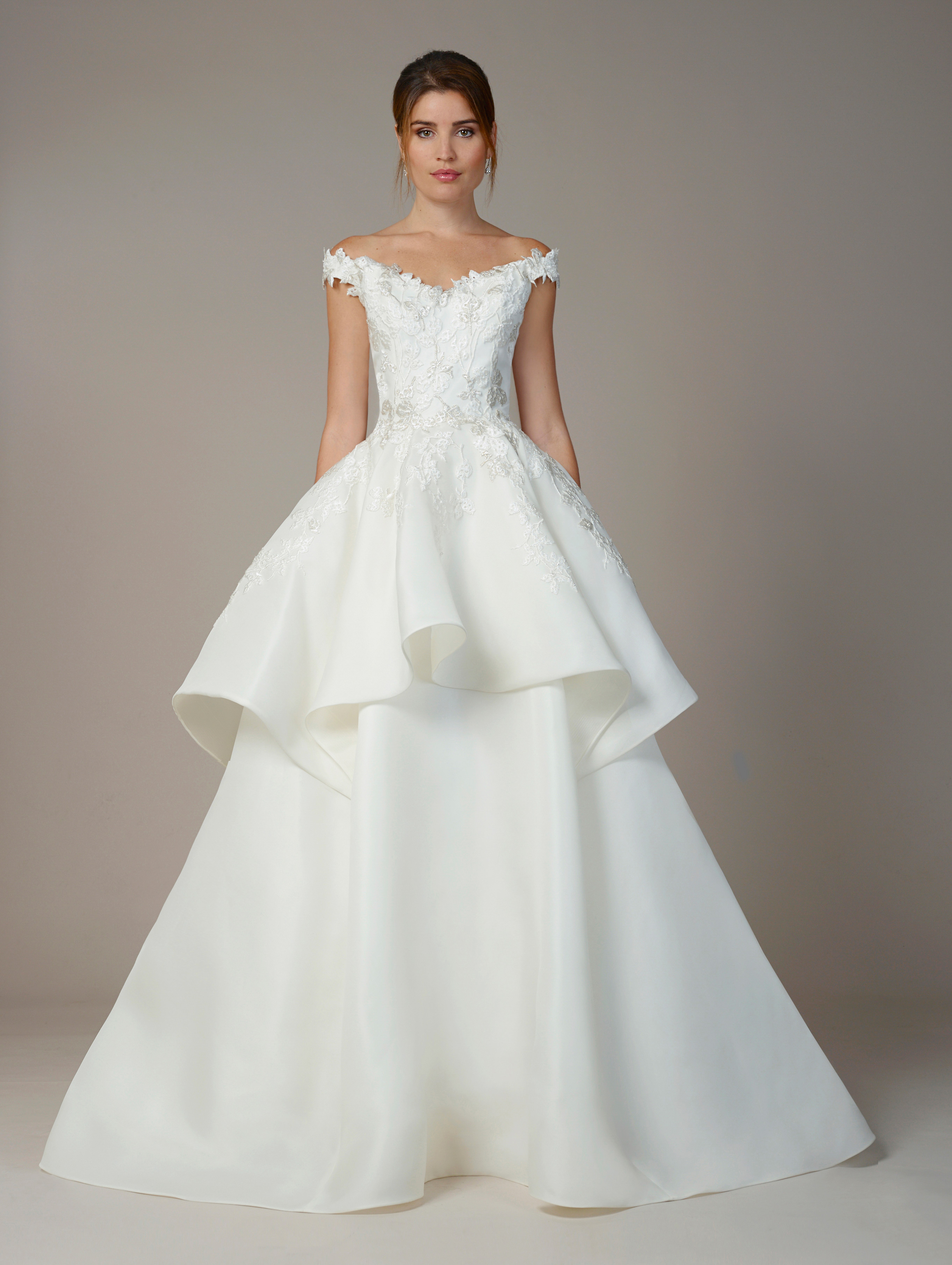 liancarlo wedding dress fall 2018 ballgown off-the-shoulder