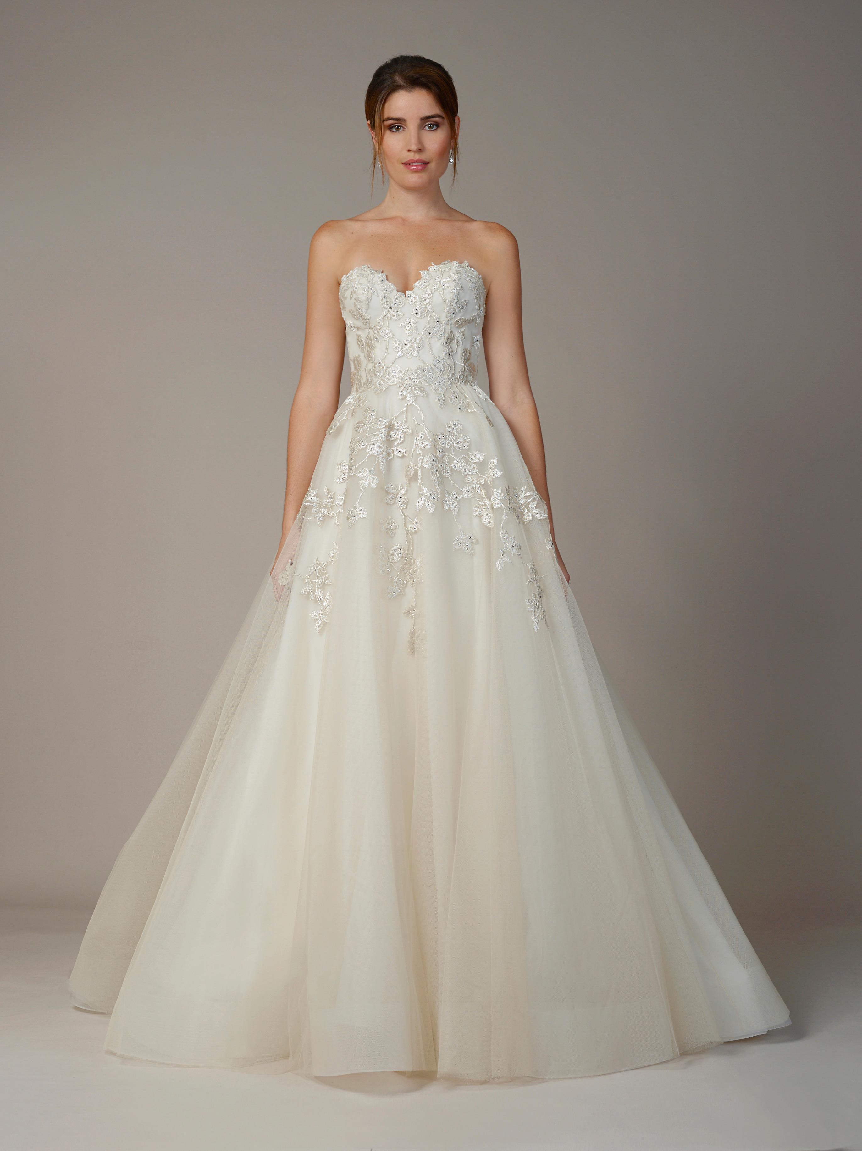 liancarlo wedding dress fall 2018 strapless sweetheart a-line