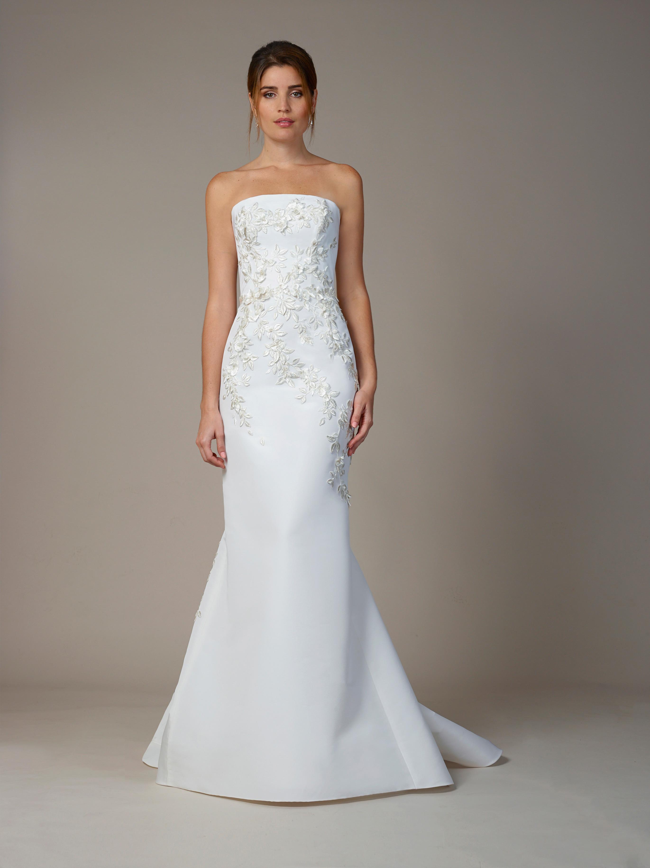 liancarlo wedding dress fall 2018 sheath sleeveless