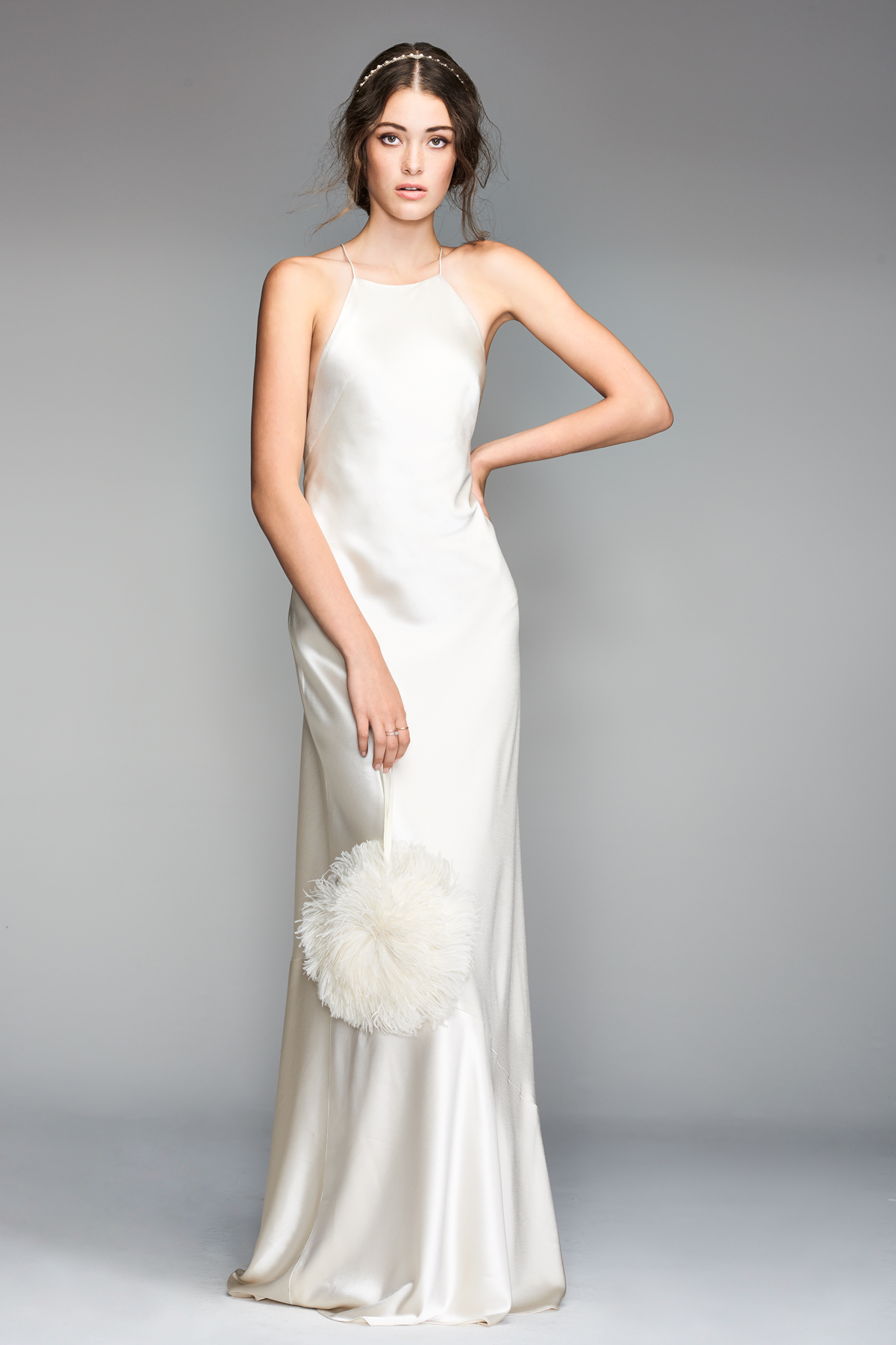 willowby by watters 2018 halter silky wedding dress