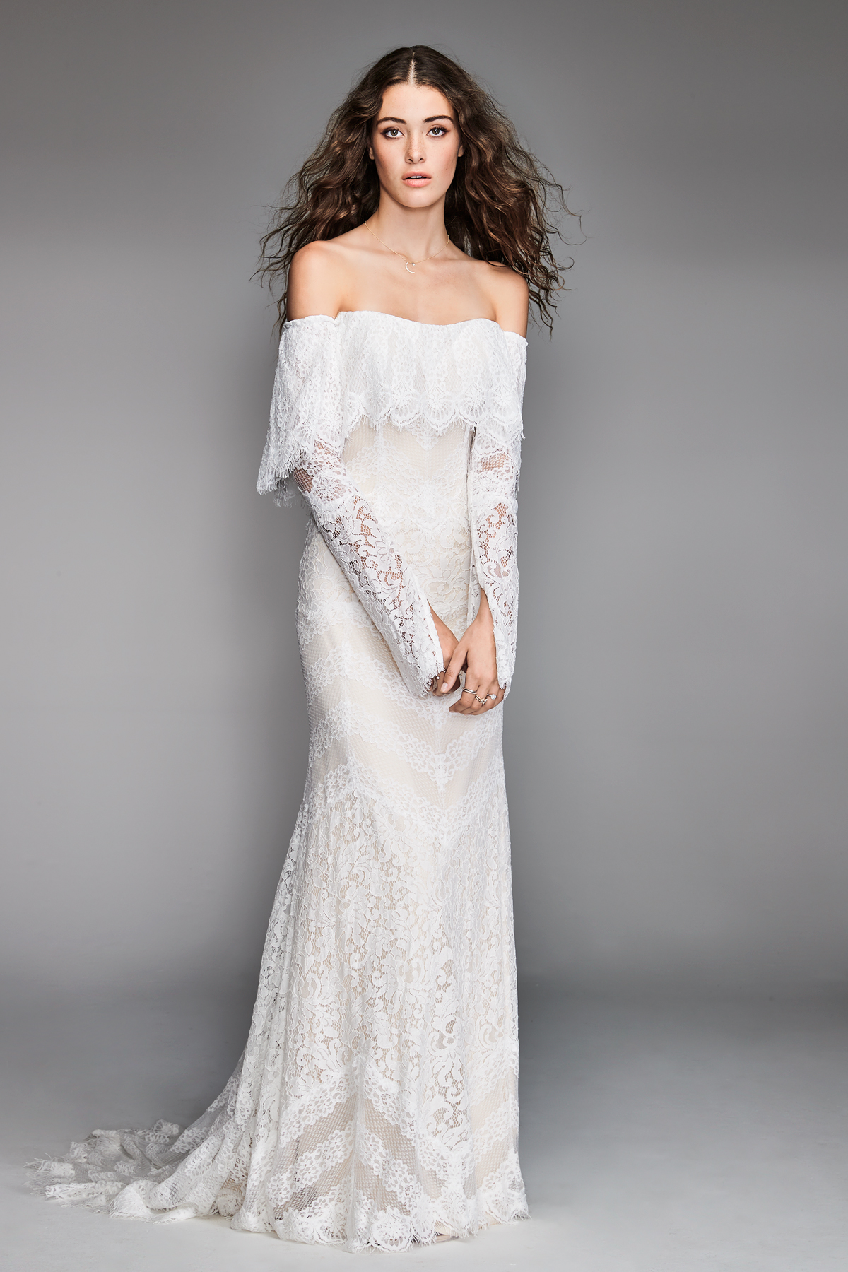 willowby by watters 2018 off shoulder long sleeve wedding dress