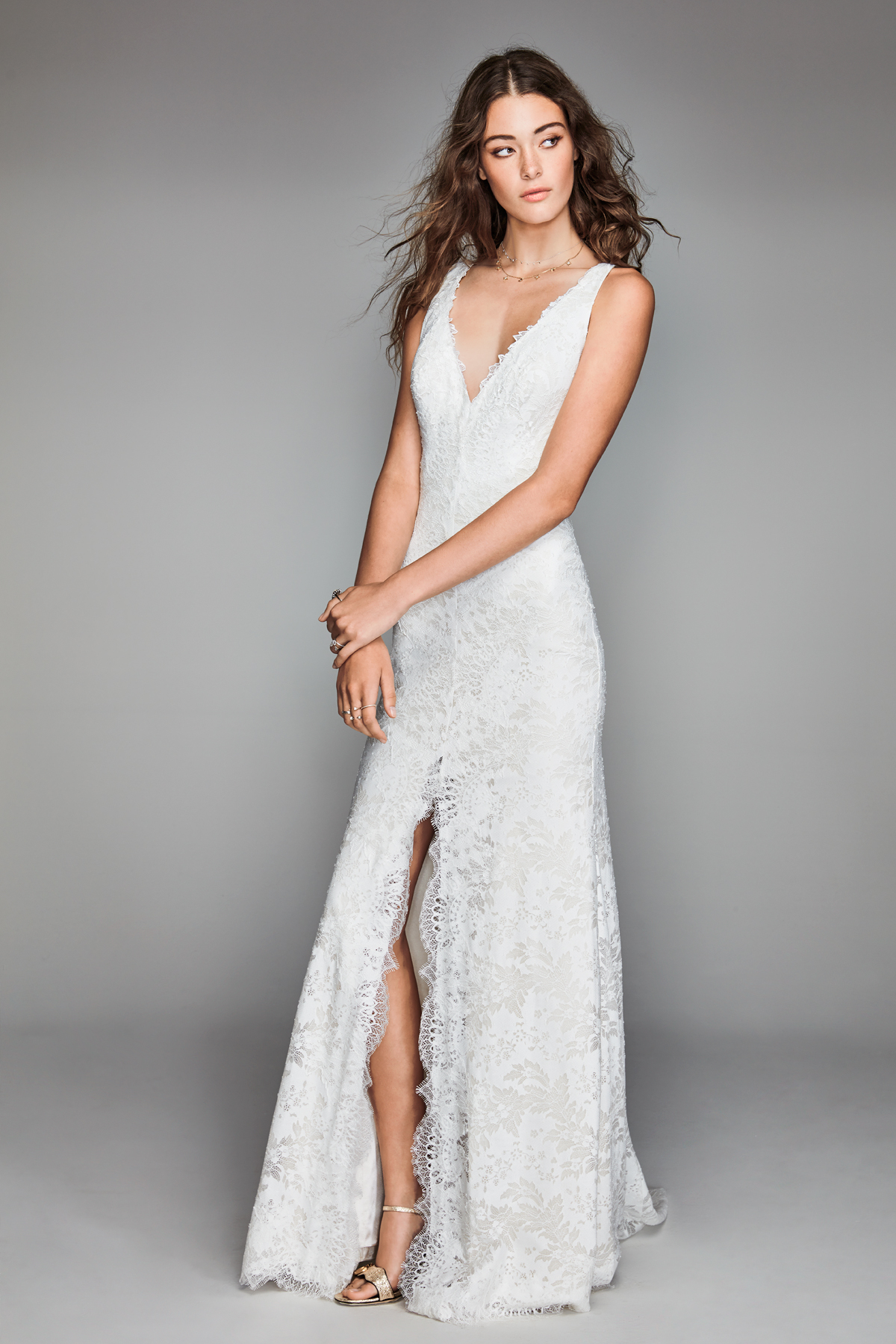 willowby by watters 2018 v-neck lace wedding dress