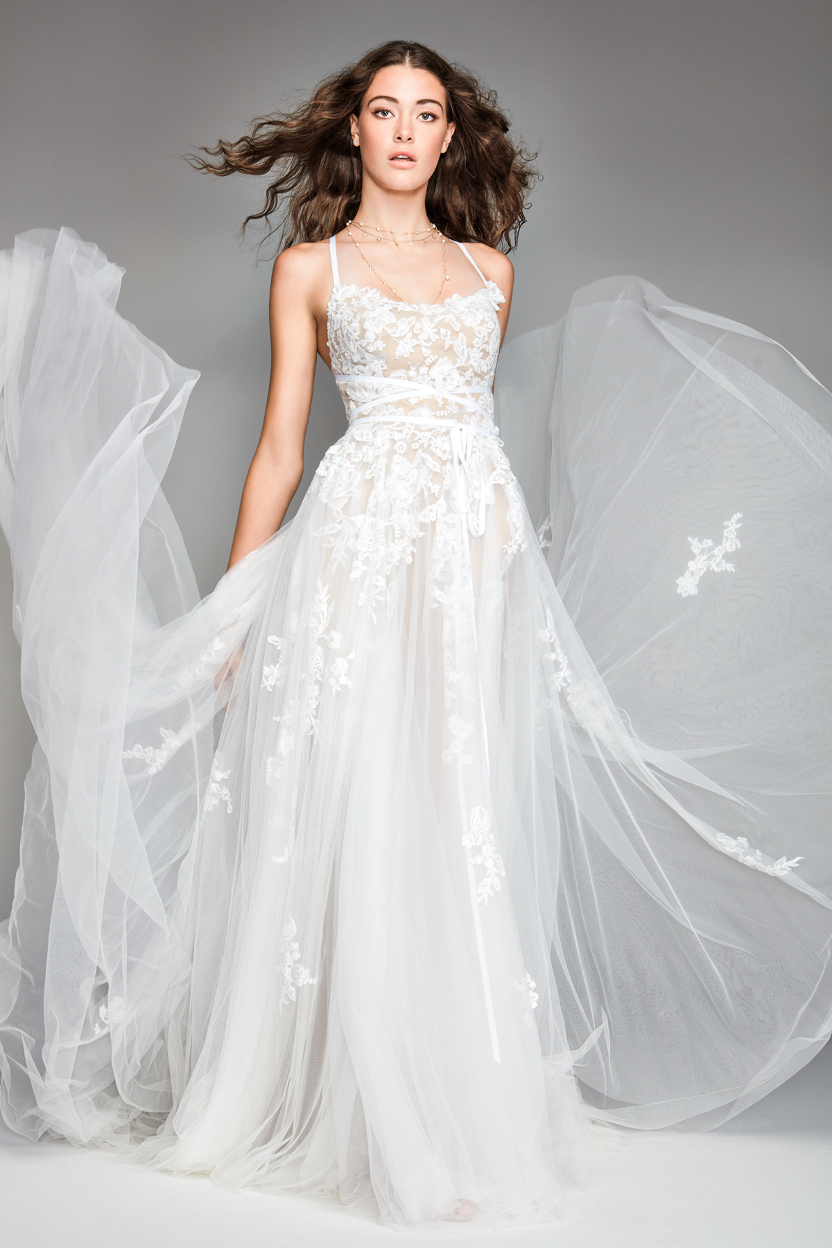 willowby by watters 2018 lace chiffon spaghetti strap wedding dress