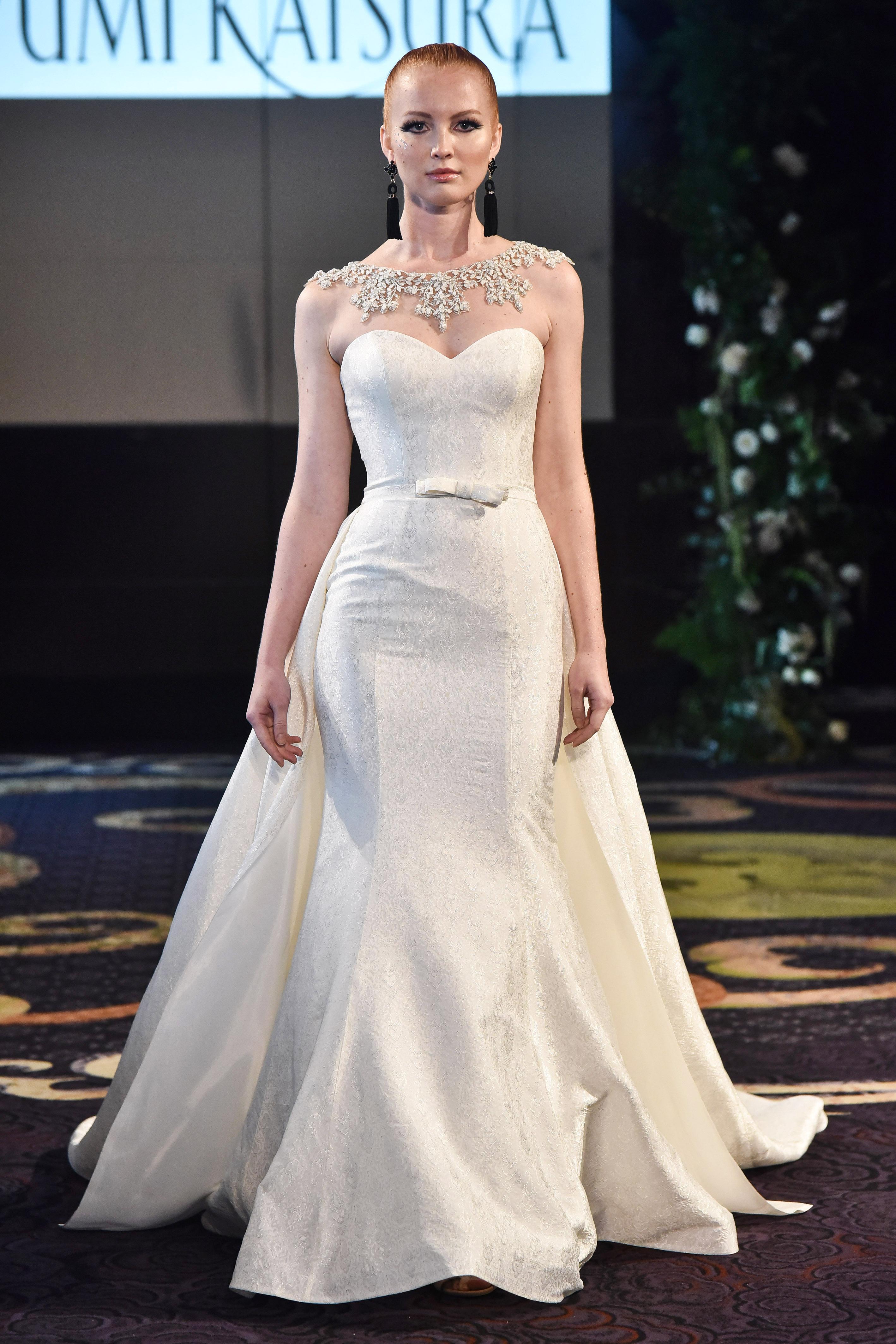 yumi katsura mermaid sweetheart wedding dress fall 2018