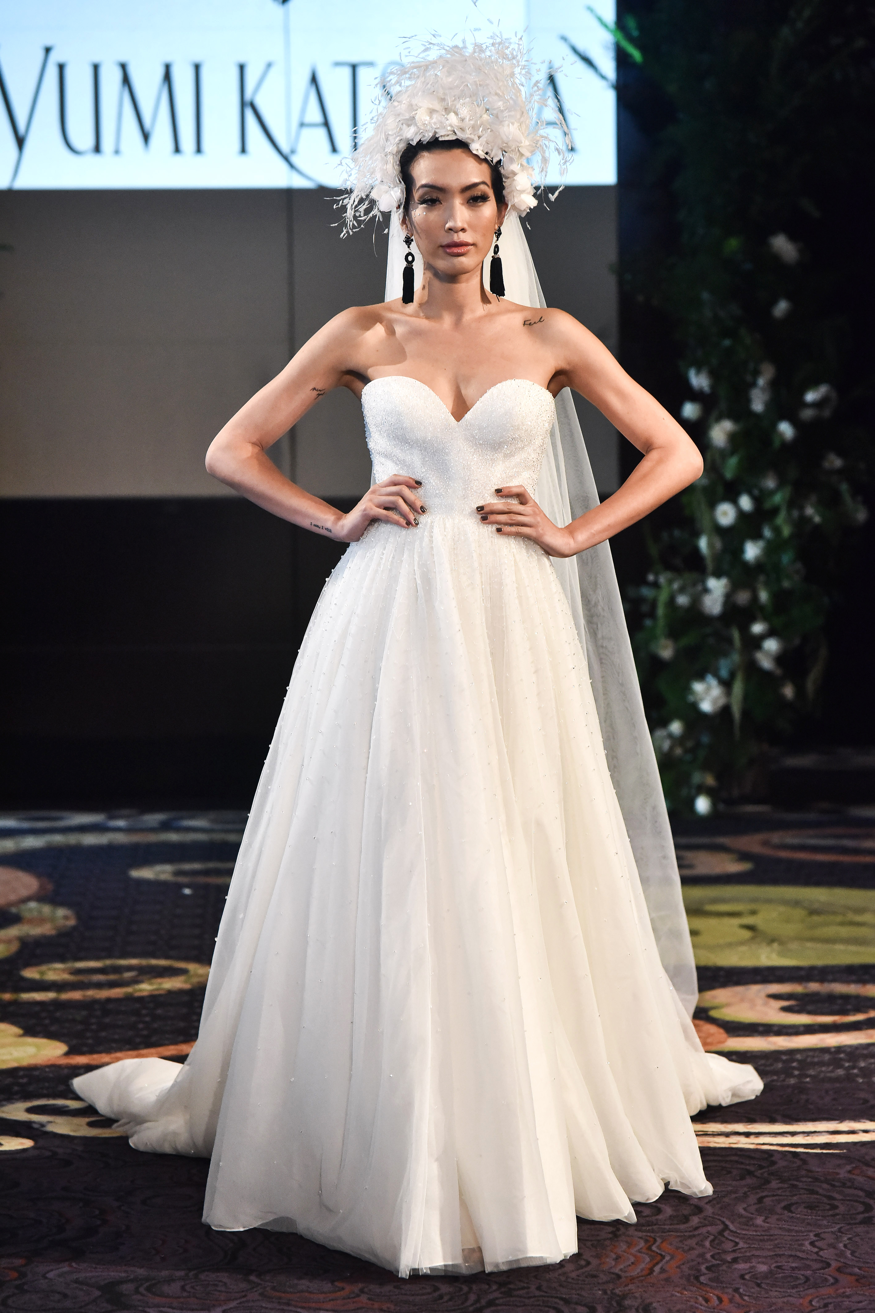 yumi katsura fall 2018 sweetheart a-line wedding dress