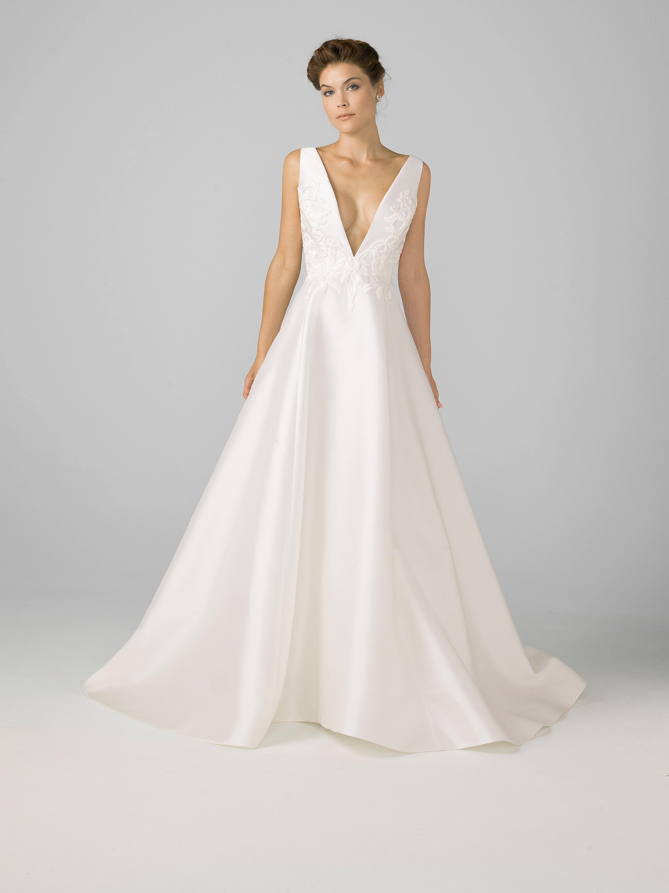 azul by liancarlo 2018 deep v-neck wedding dress