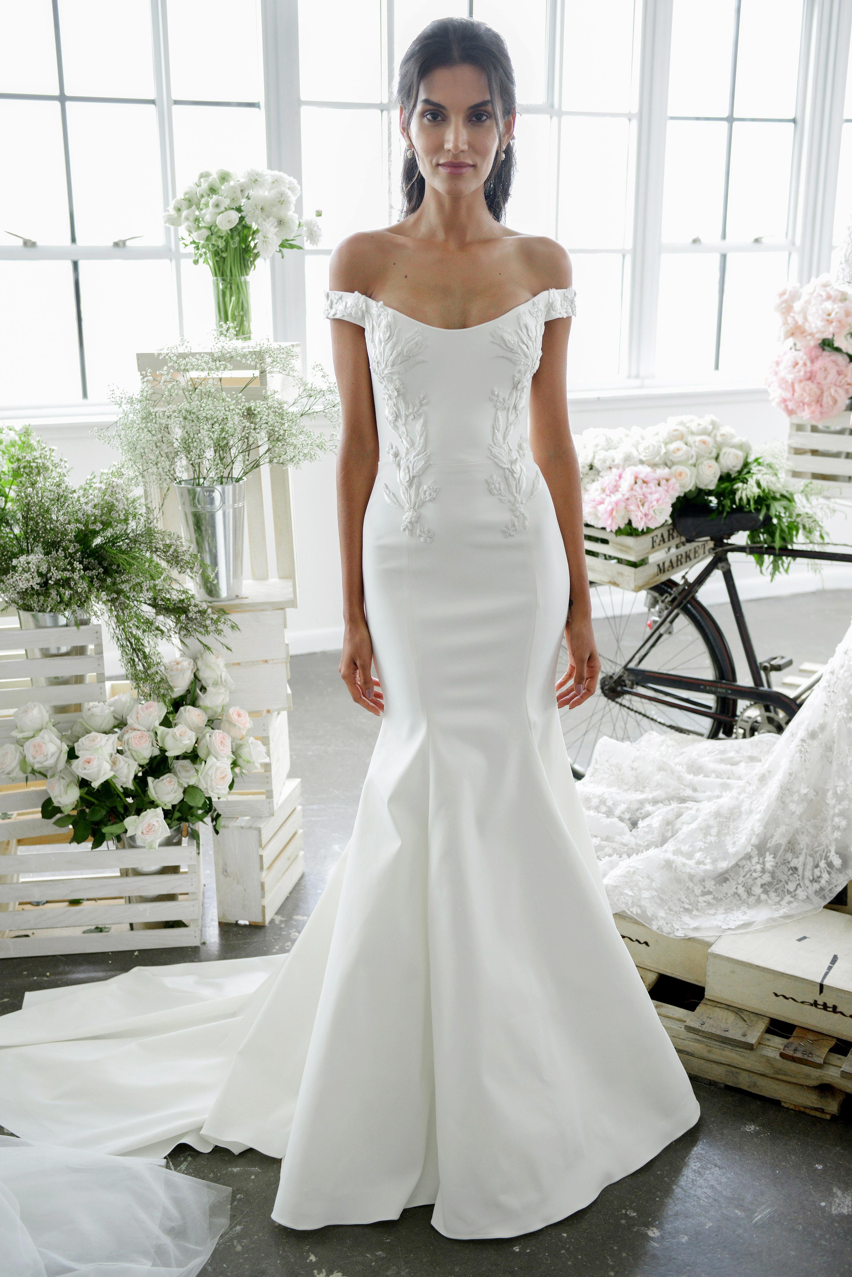 marchesa notte off-the-shoulder-mermaid bridal wedding dress-fall2018