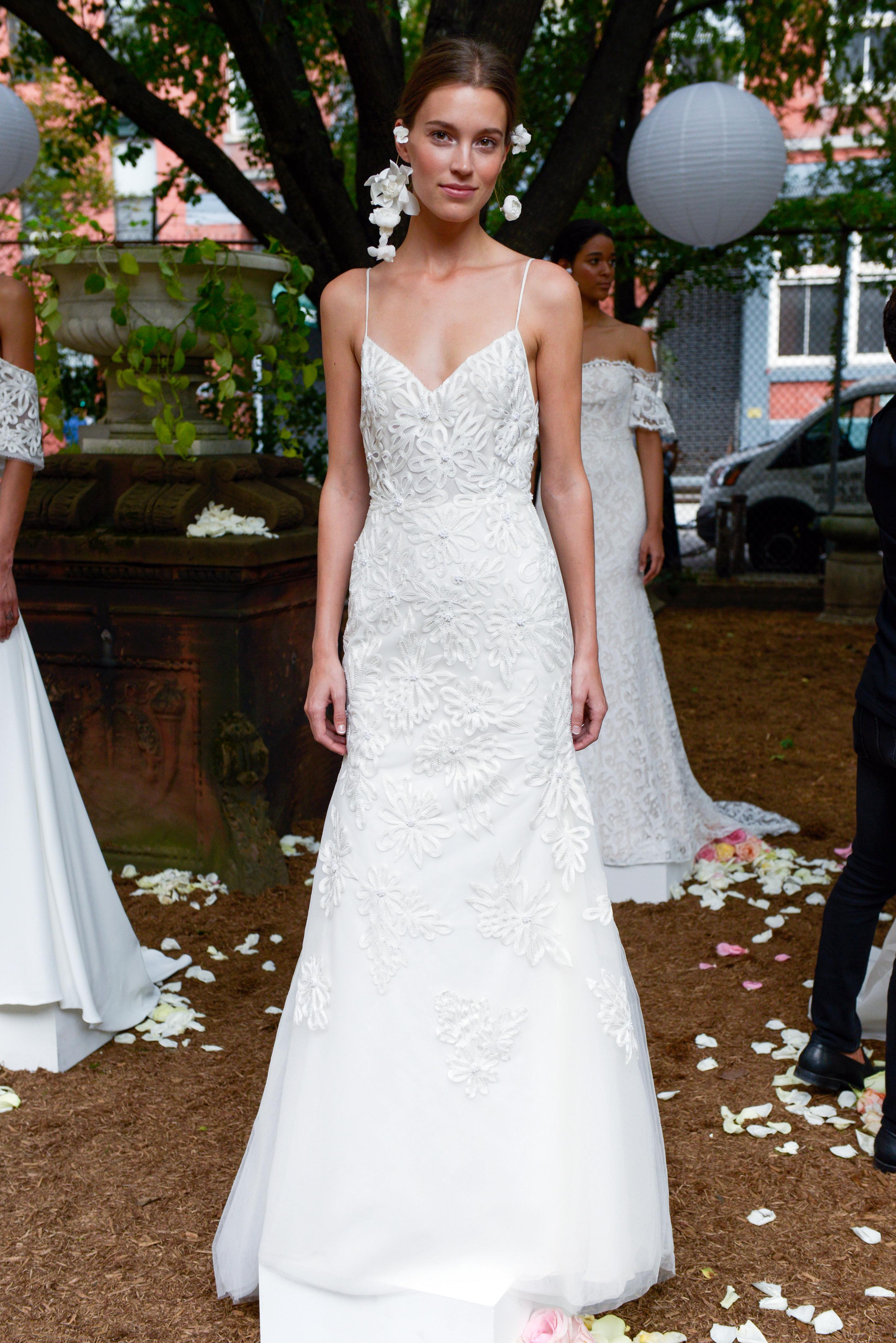 lela rose wedding dress bridal market fall 2018 sheath v-neck