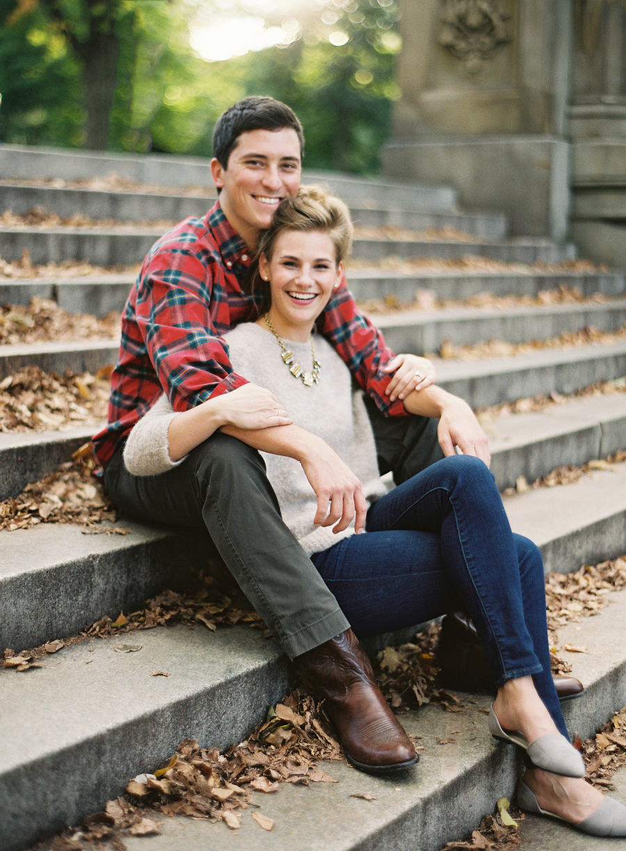 couple on stairs