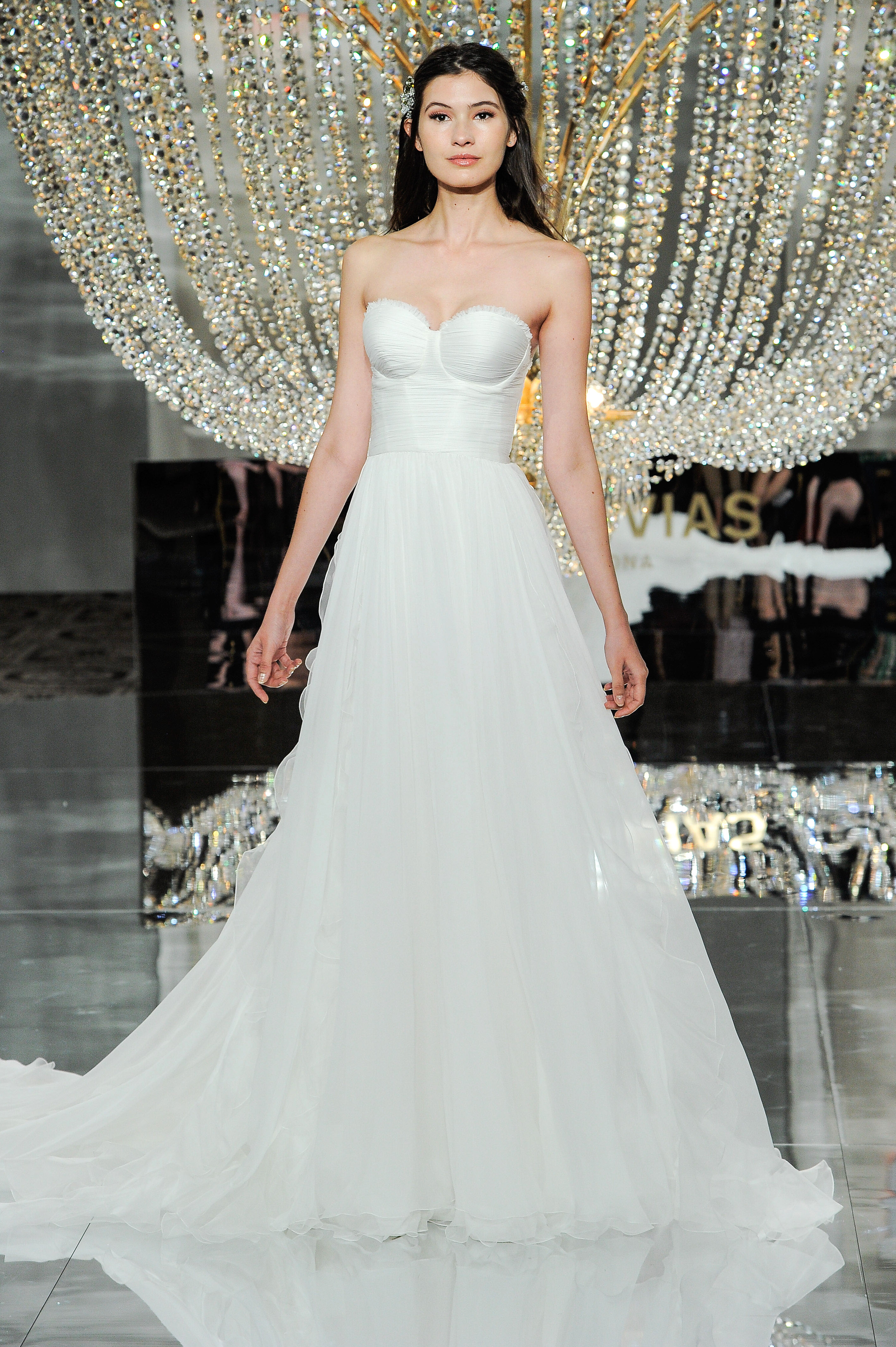 pronovias wedding dress fall 2018 sweetheart strapless a-line