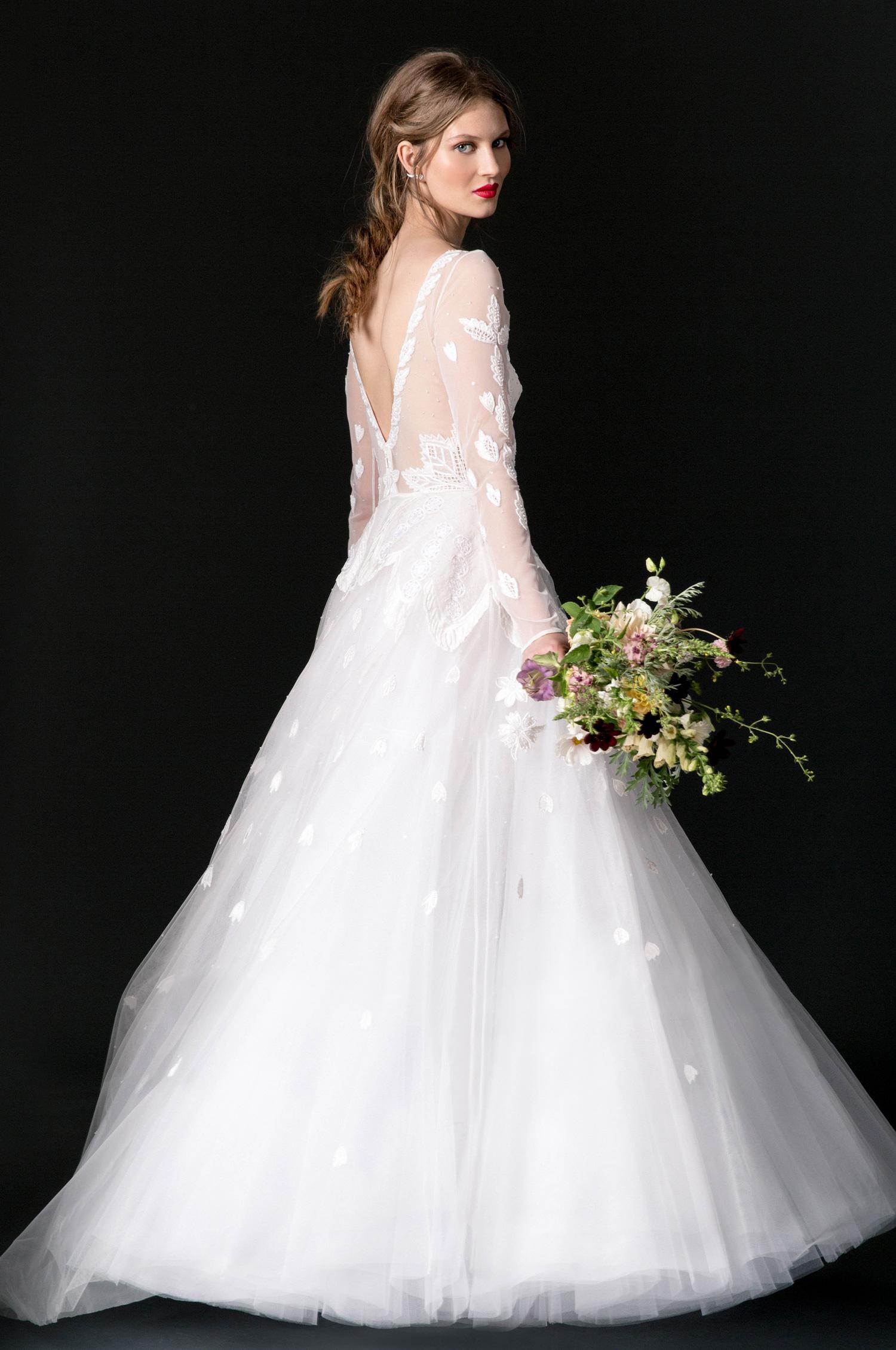 temperley wedding dress fall 2018 long sleeve lace a-line