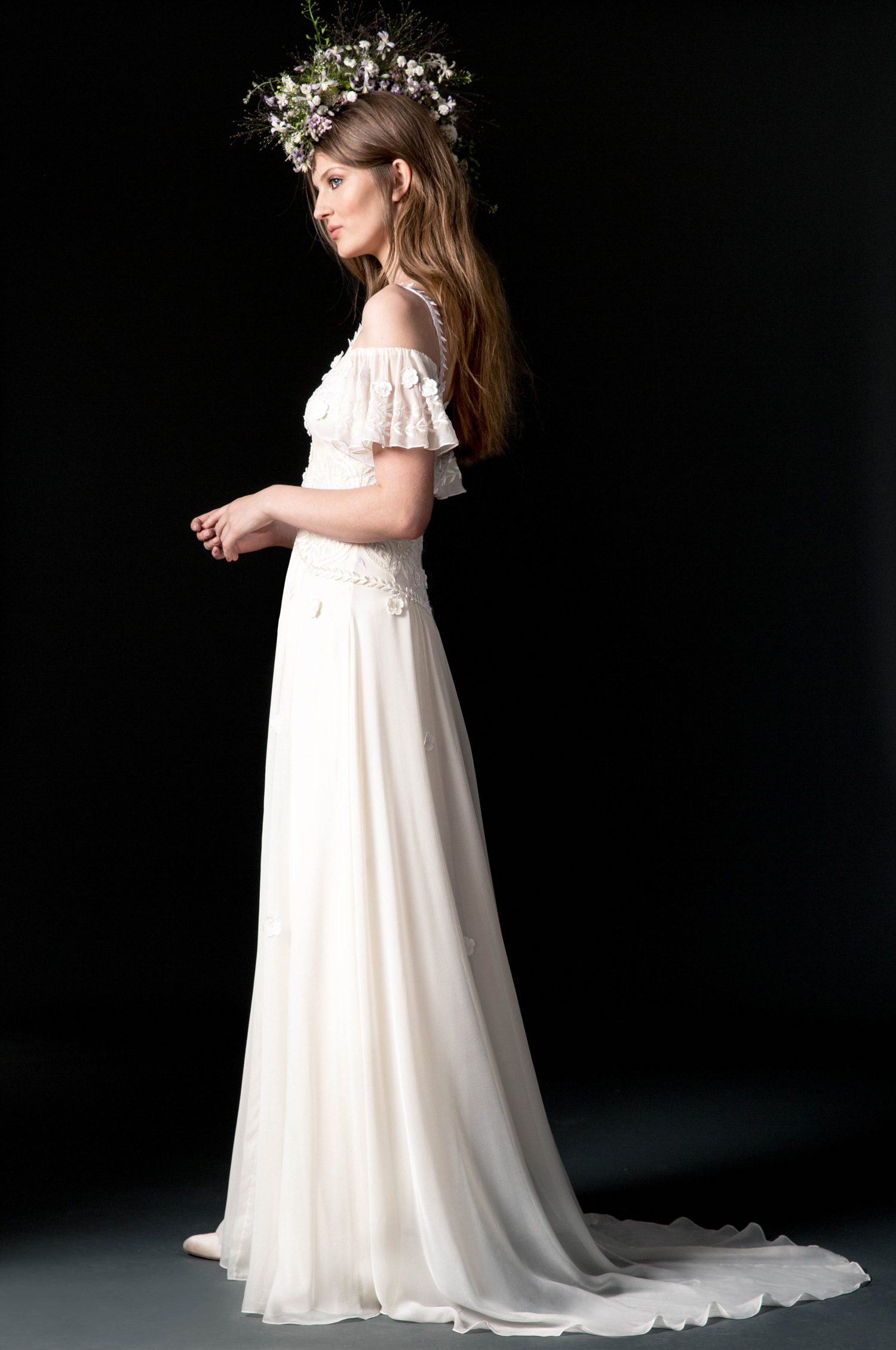 temperley wedding dress fall 2018 lace off the shoulder