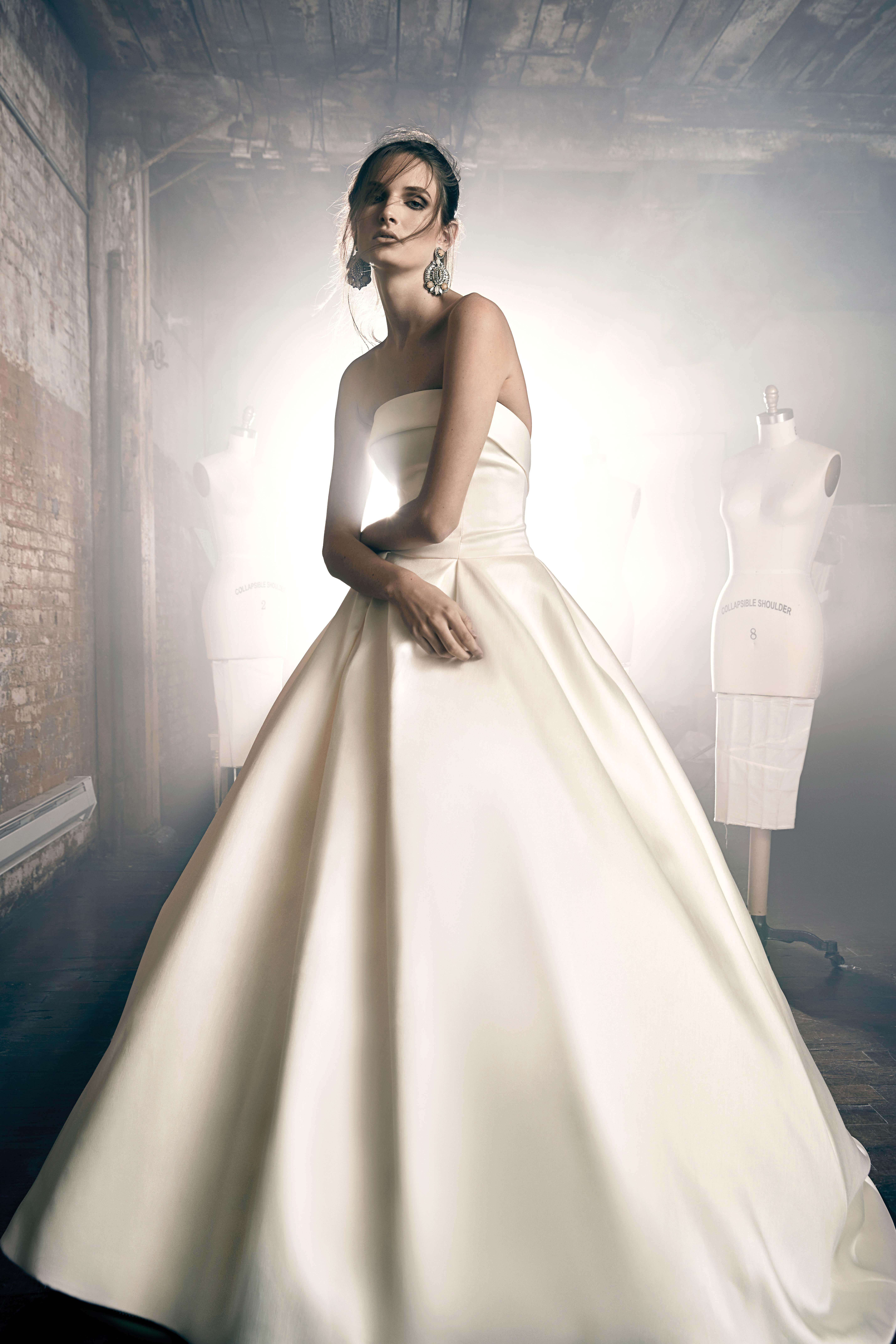 sareh nouri fall 2018 strapless ballgown wedding dress