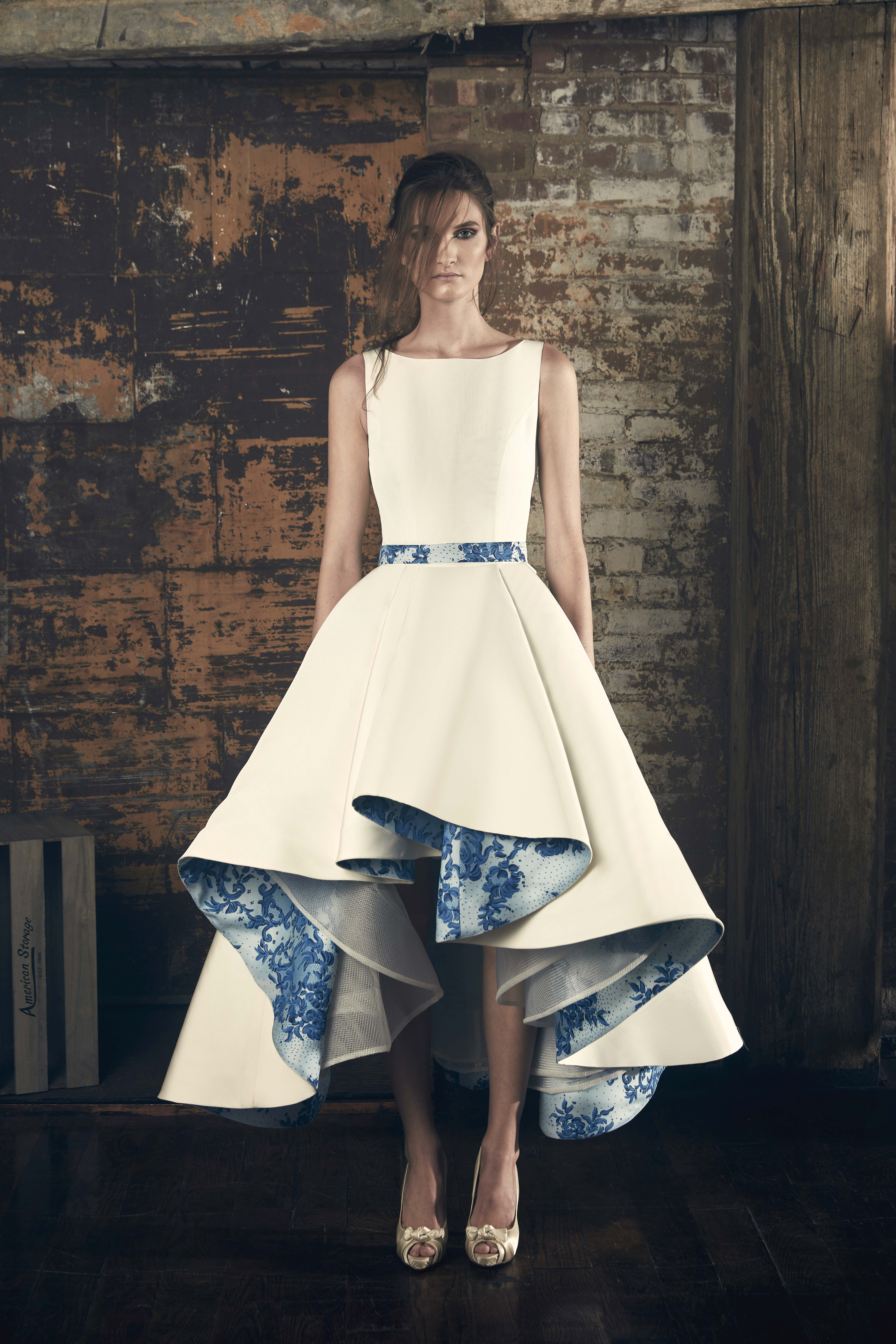 sareh nouri fall 2018 boat neckline blue under detail wedding dress