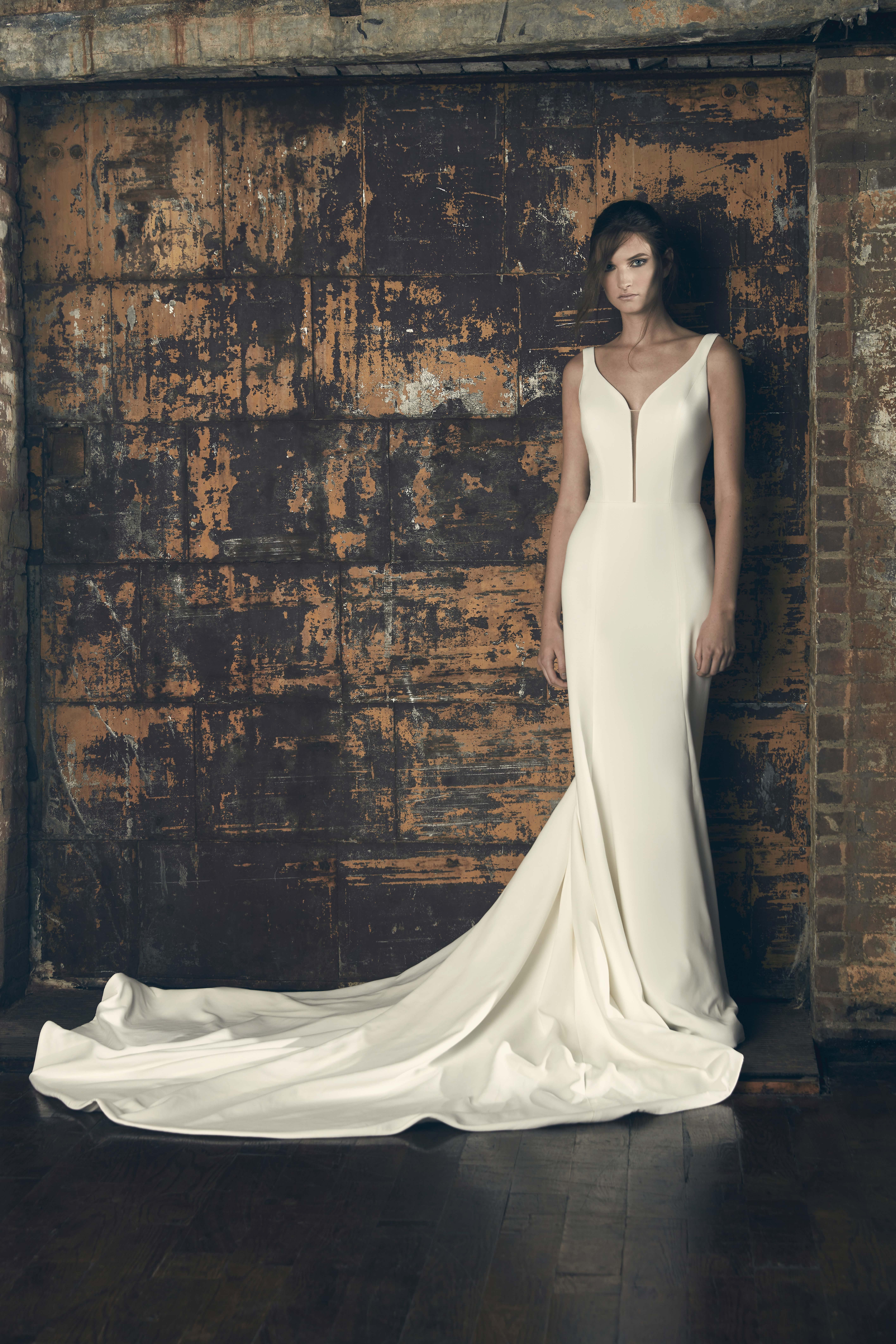 sareh nouri fall 2018 v-neck wedding dress
