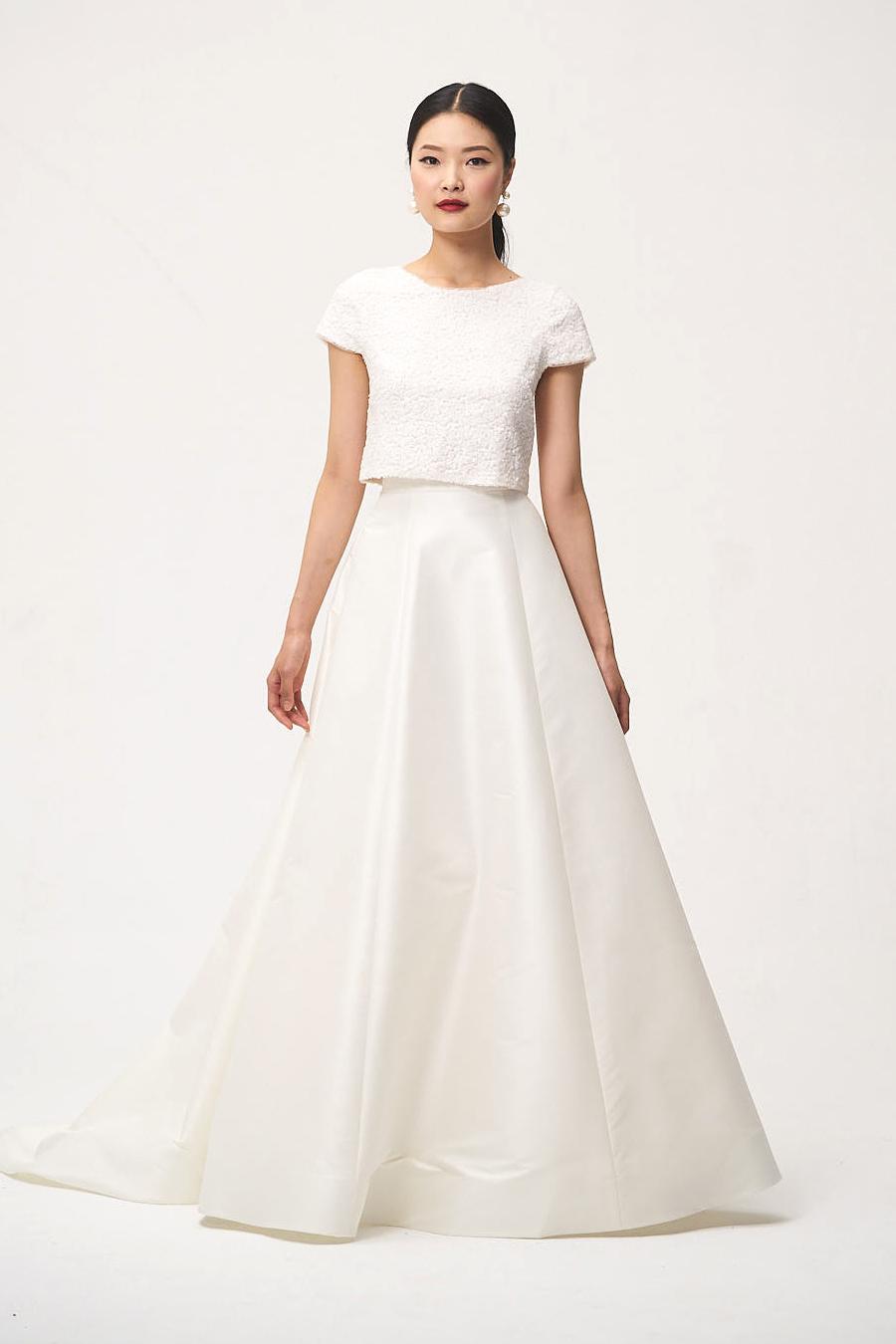 jenny by jenny yoo fall 2018 two piece cap sleeve wedding dress