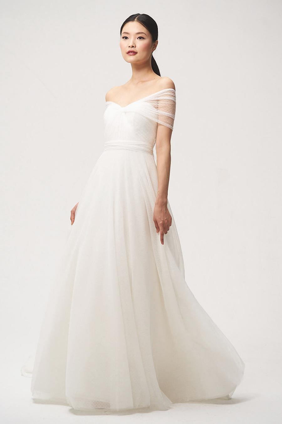 jenny by jenny yoo fall 2018 off shoulder a-line wedding dress