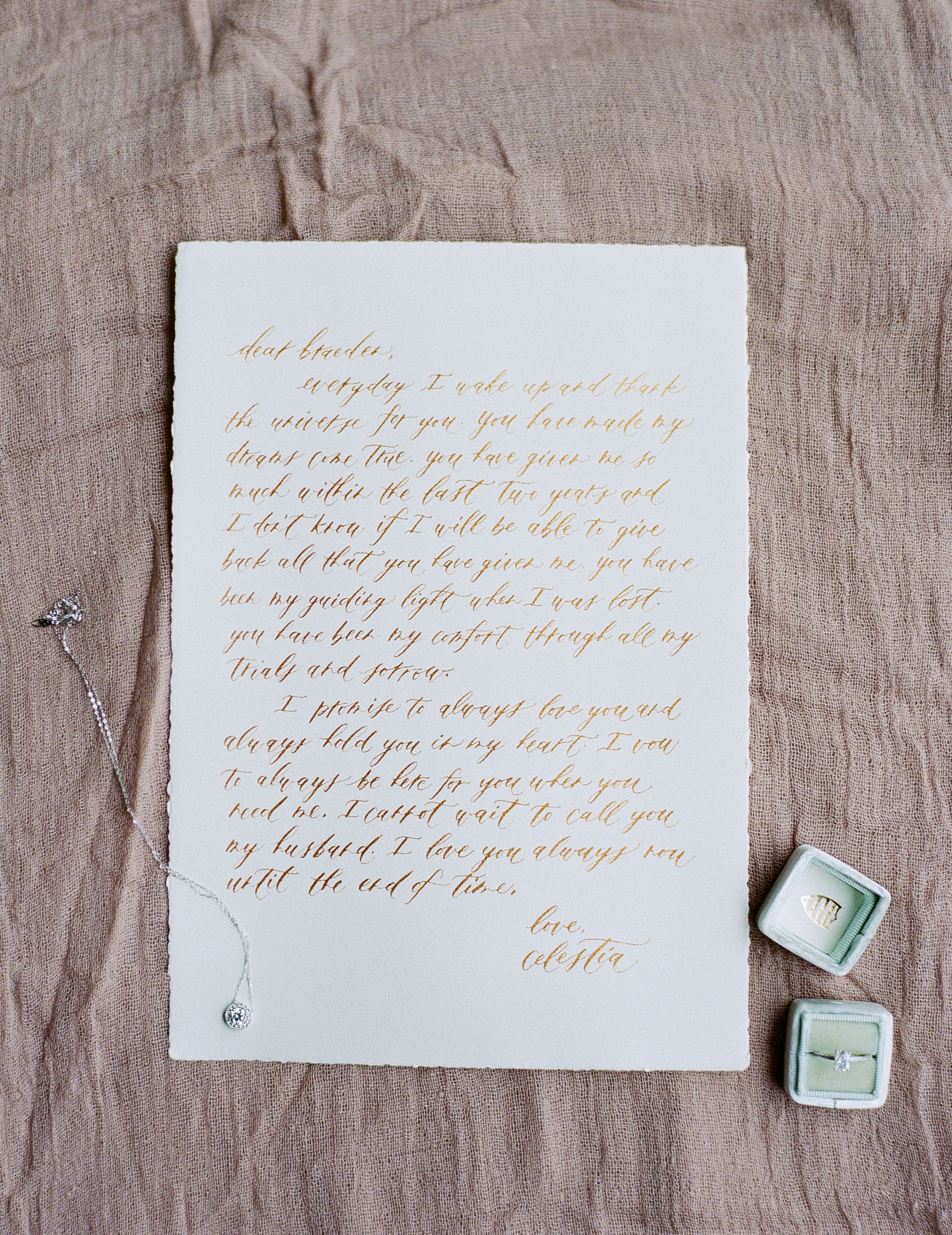 gold foil letter