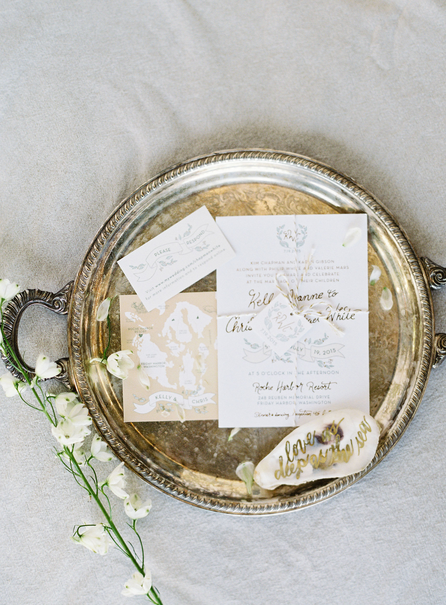 gold foil tray stationary