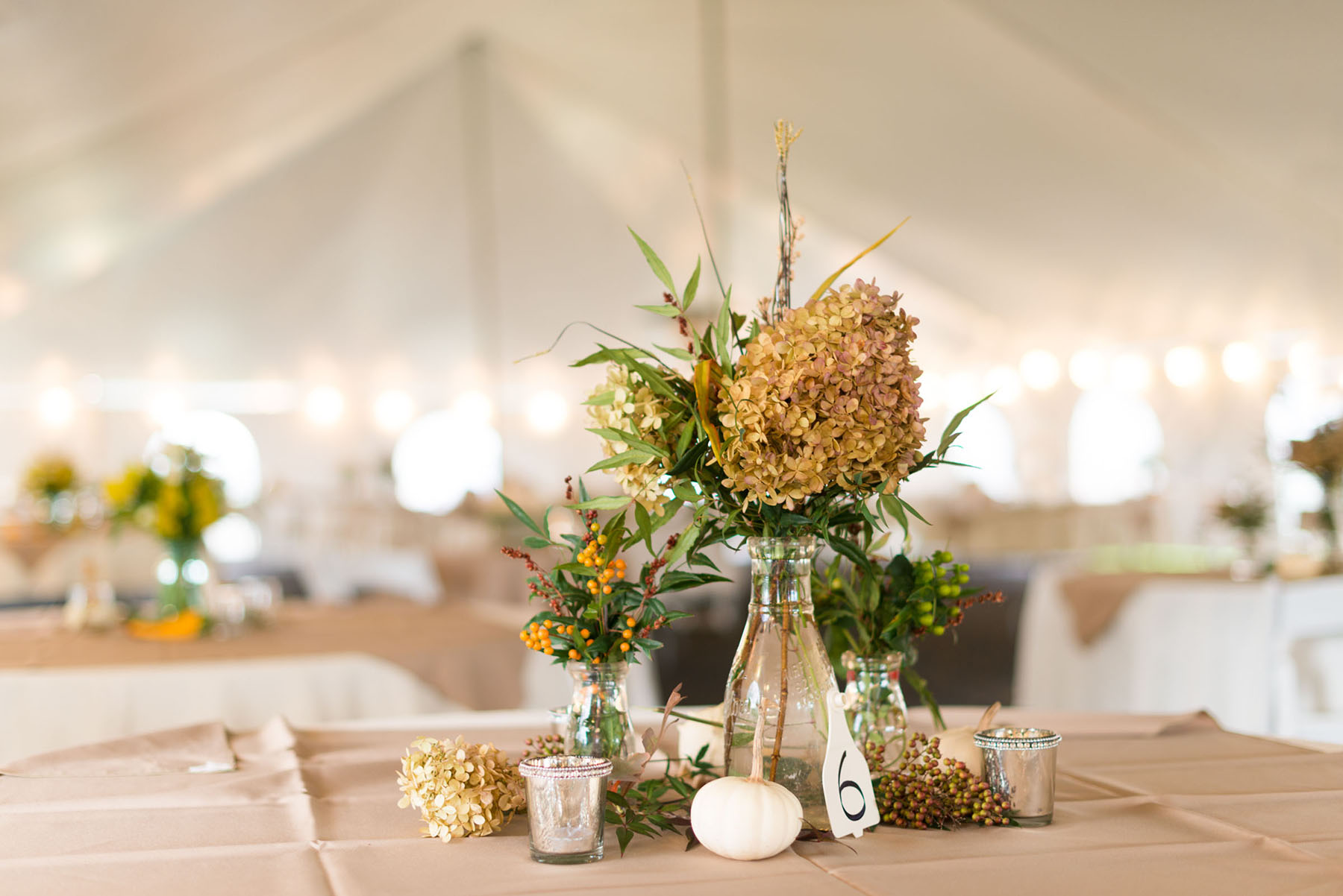 Dried Hydrangea Centerpiece