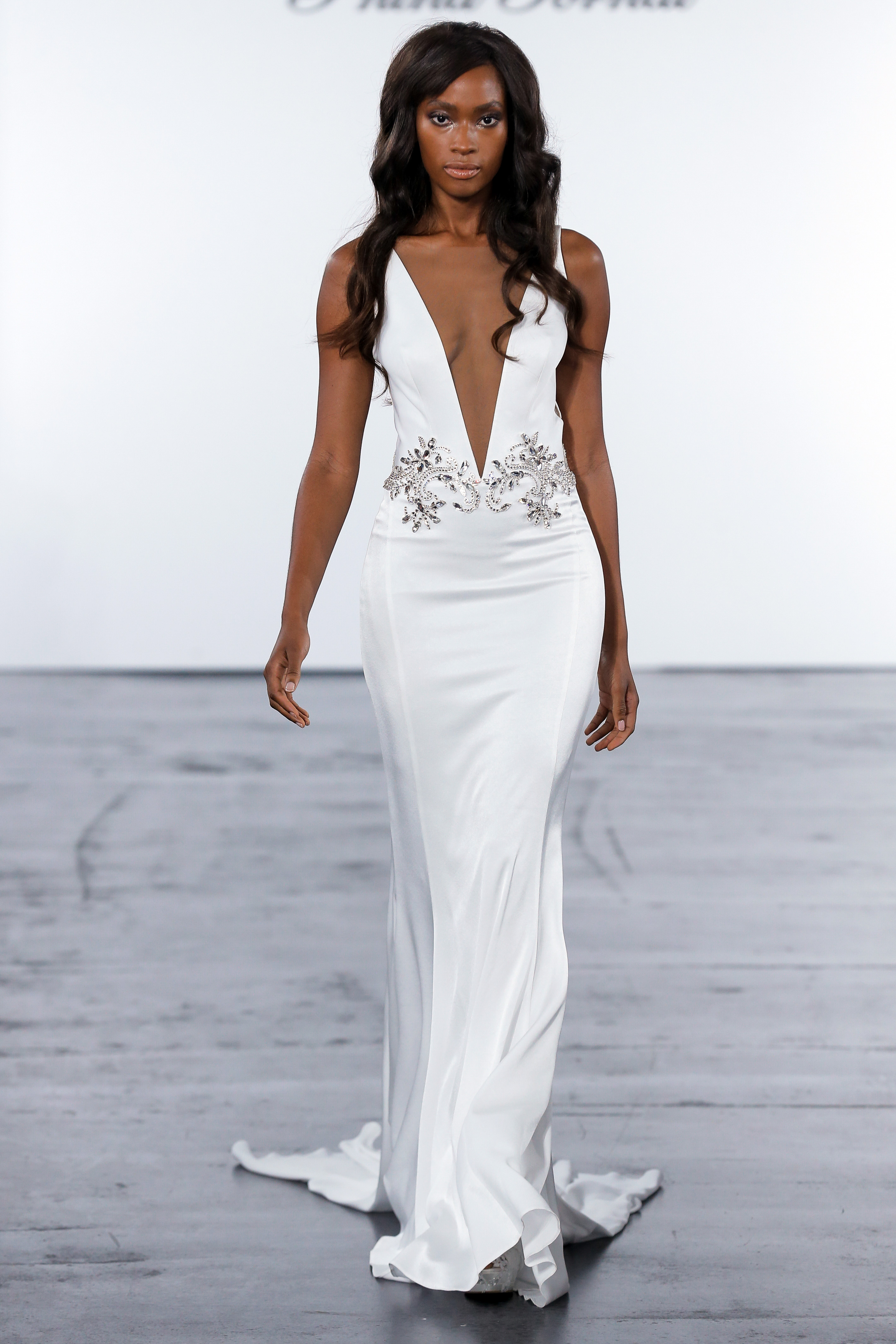 pnina tornai fall 2018 plunging v-neck wedding dress