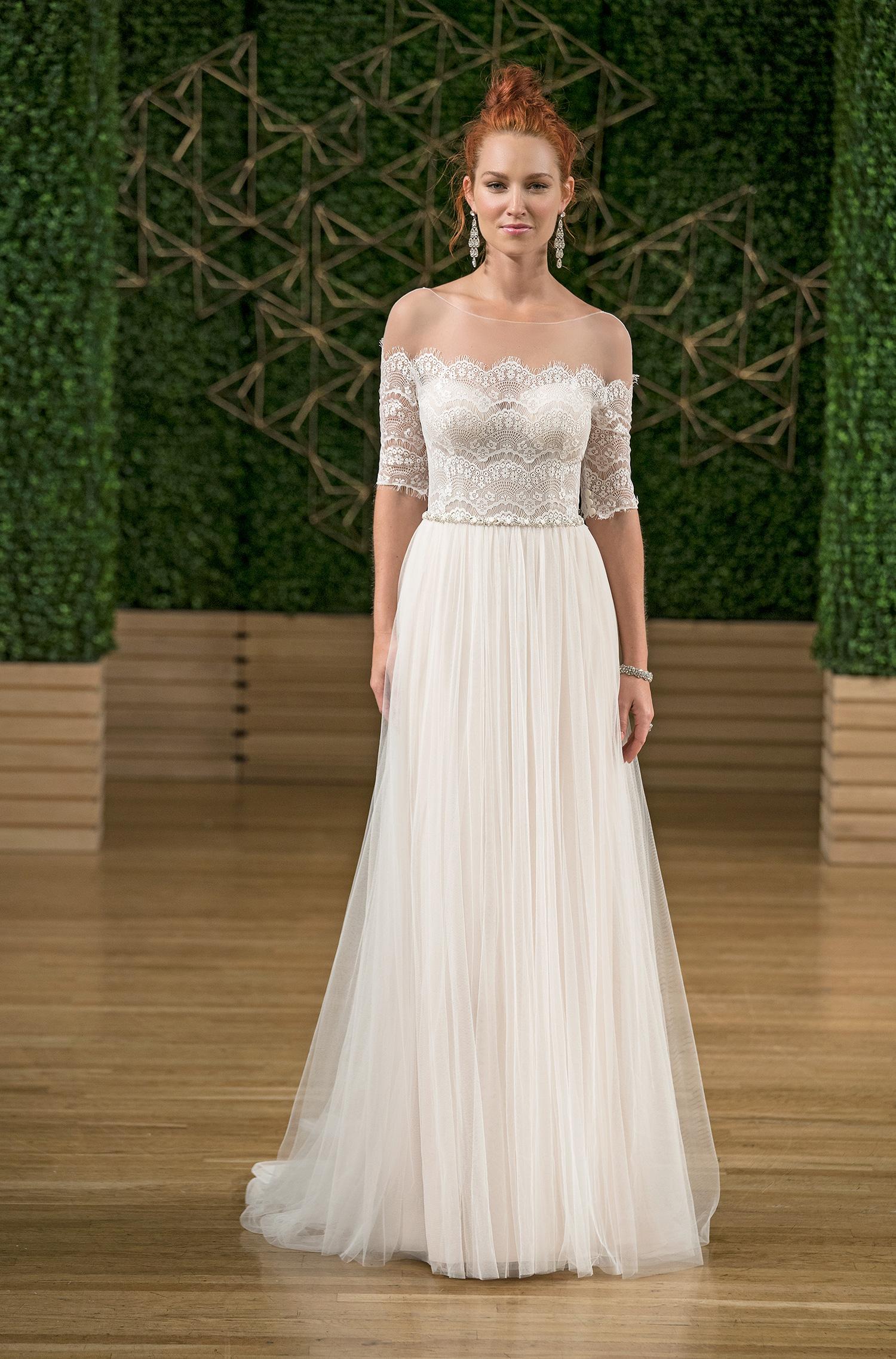 rebecca ingram illusion wedding dress fall 2018