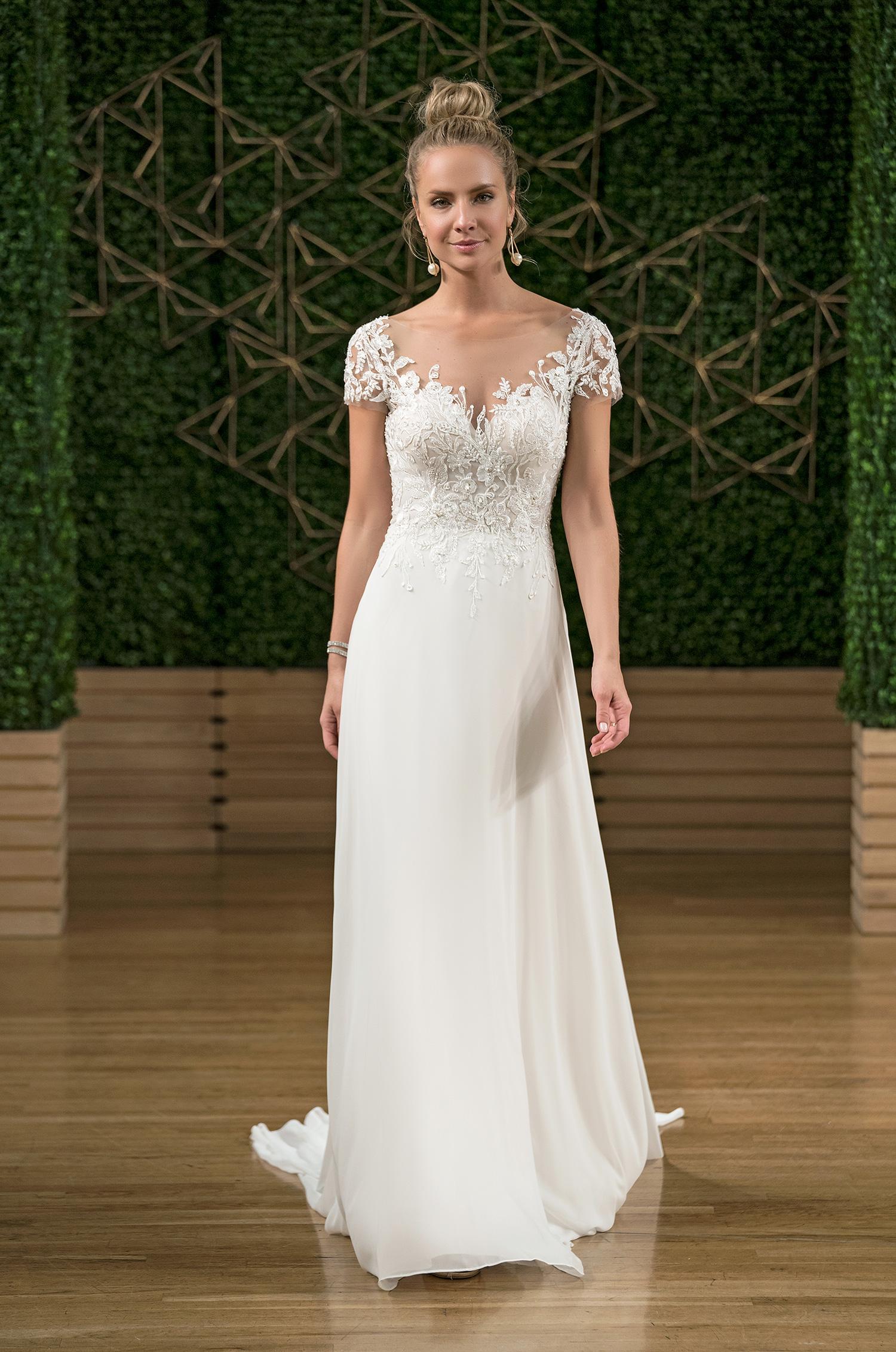 rebecca ingram cap sleeve wedding dress fall 2018