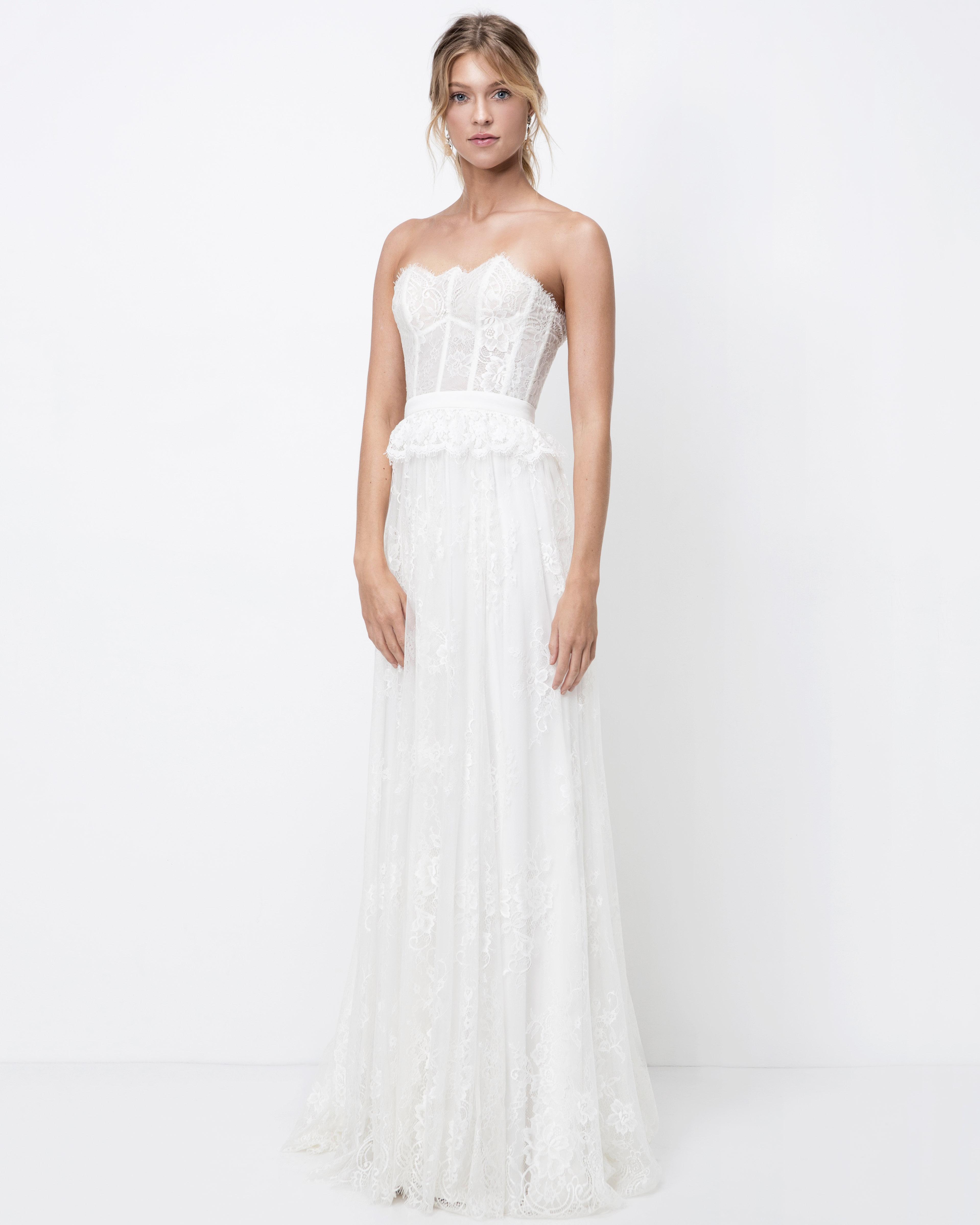 lihi hod strapless lace wedding dress fall 2018