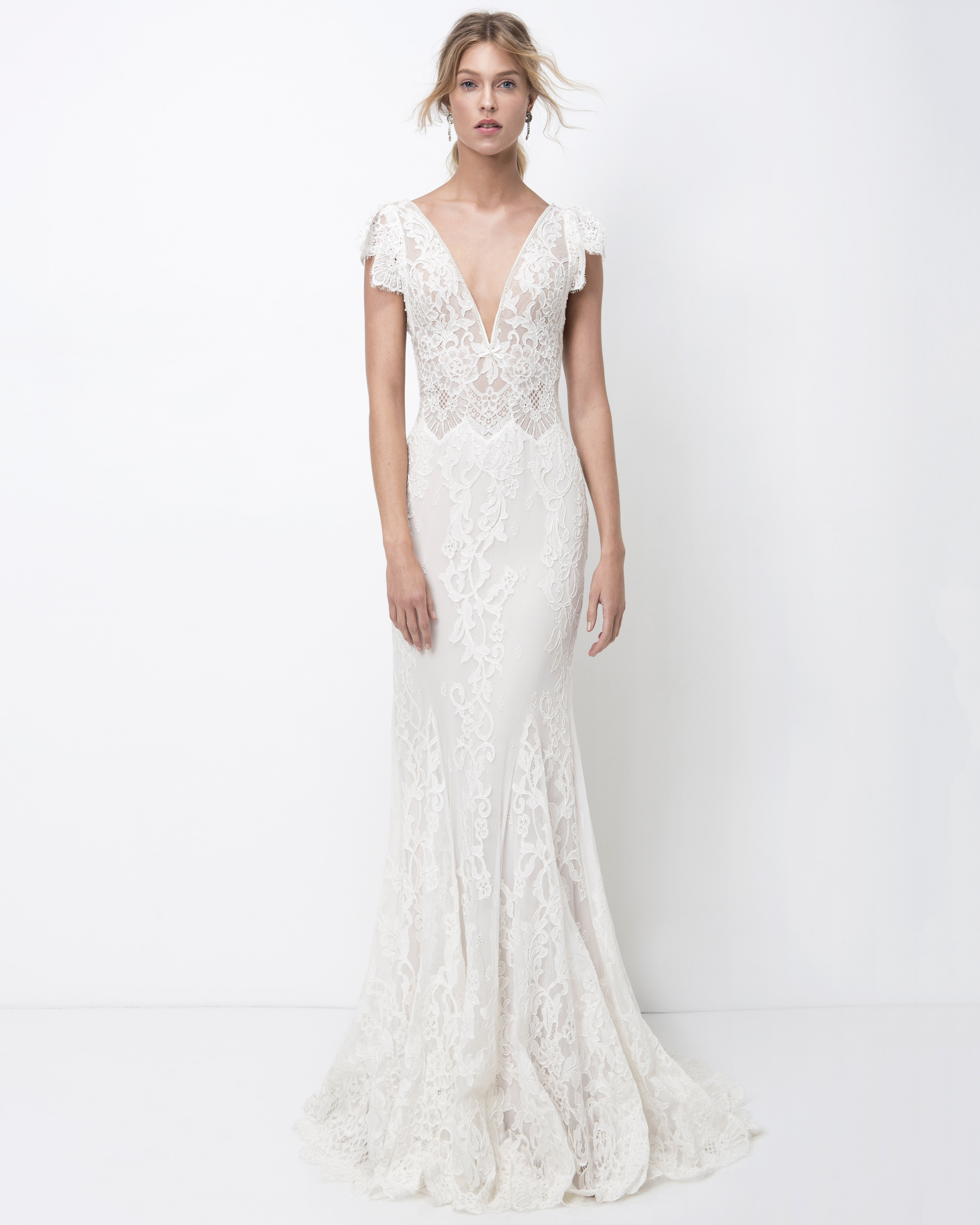 lihi hod lace trumpet with sleeves wedding dress fall 2018