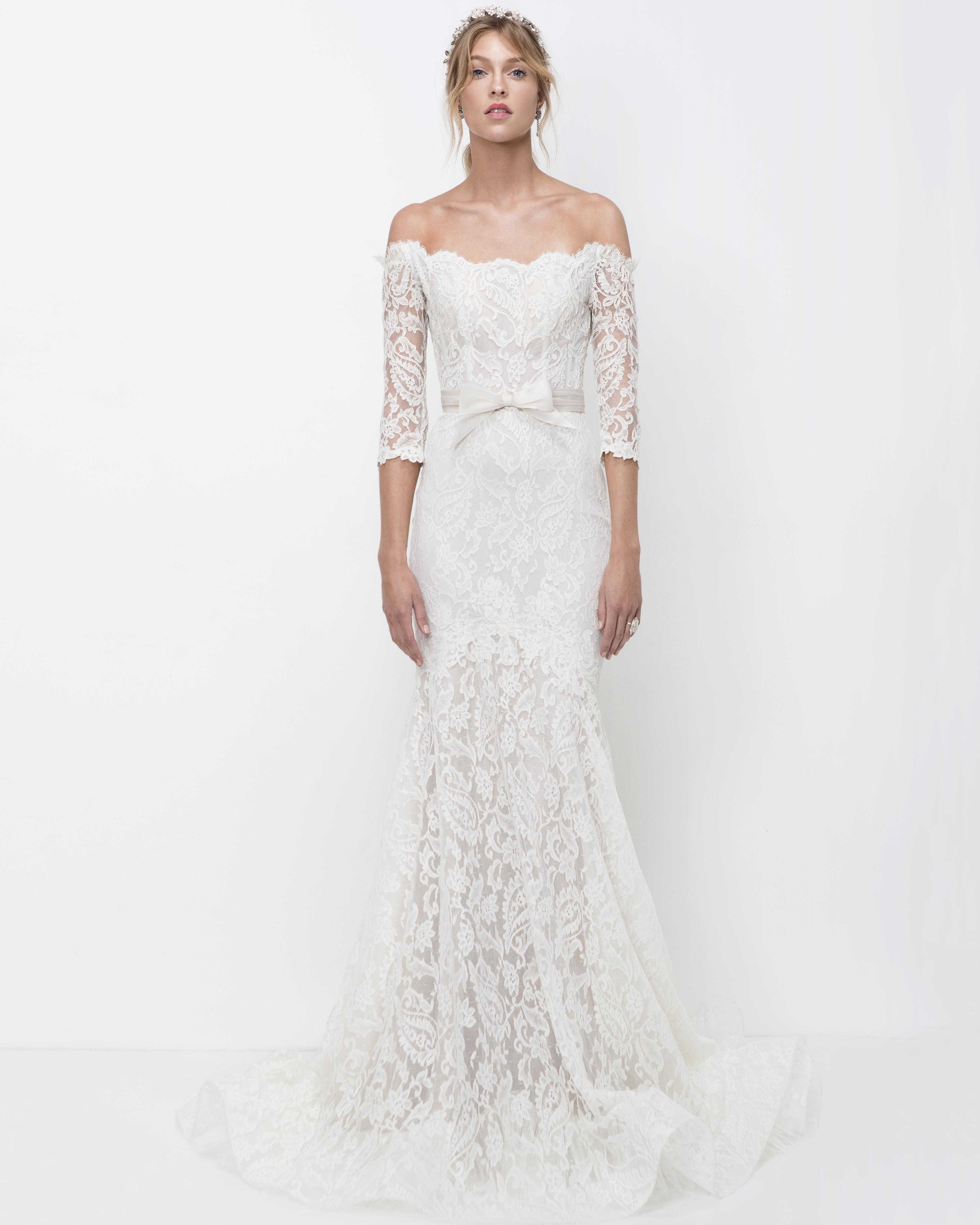 lihi hod off-the-shoulder lace trumpet wedding dress fall 2018